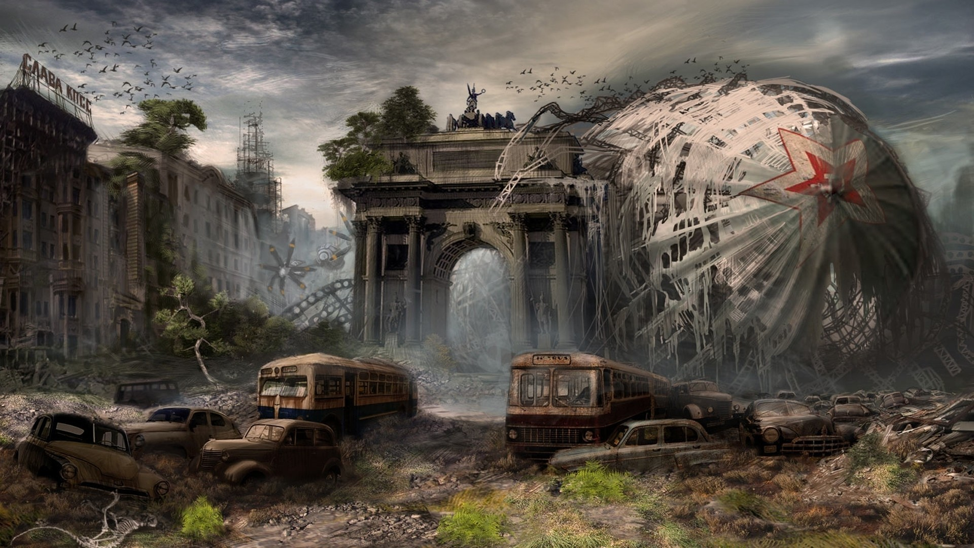 Apocalyptic Art Gallery | Sci Fi Post Apocalyptic Wallpaper/Background 1920  x 1080 – Id