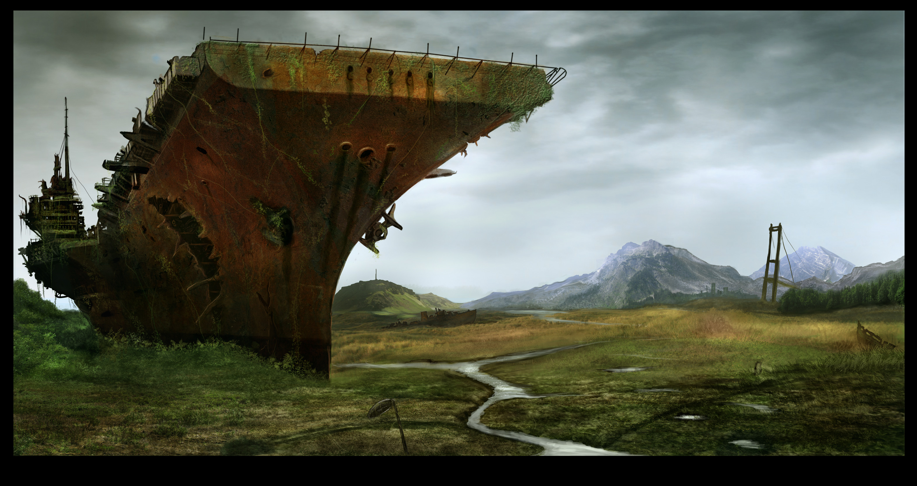 Free post apocalyptic wallpaper background