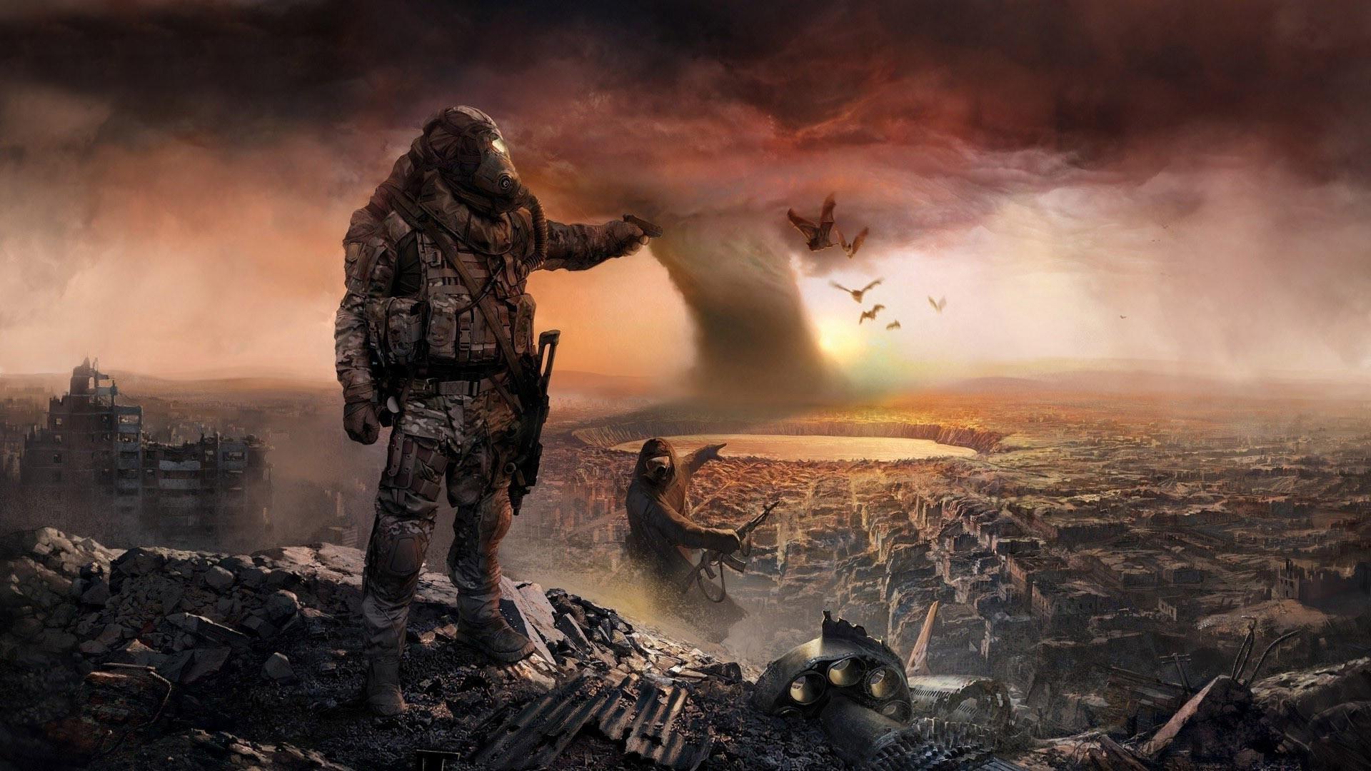 Post-apocalyptic city HD Wallpaper 1920×1080