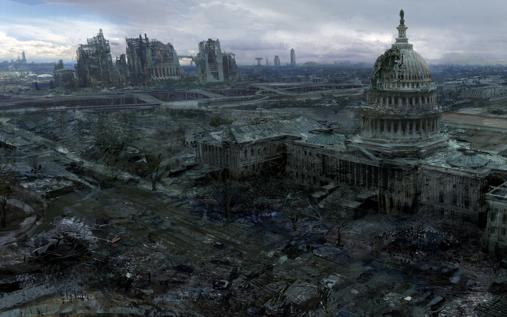 Video Games Ruins Post apocalyptic Artwork Fallout 3 Wallpaper At 3d  Wallpapers