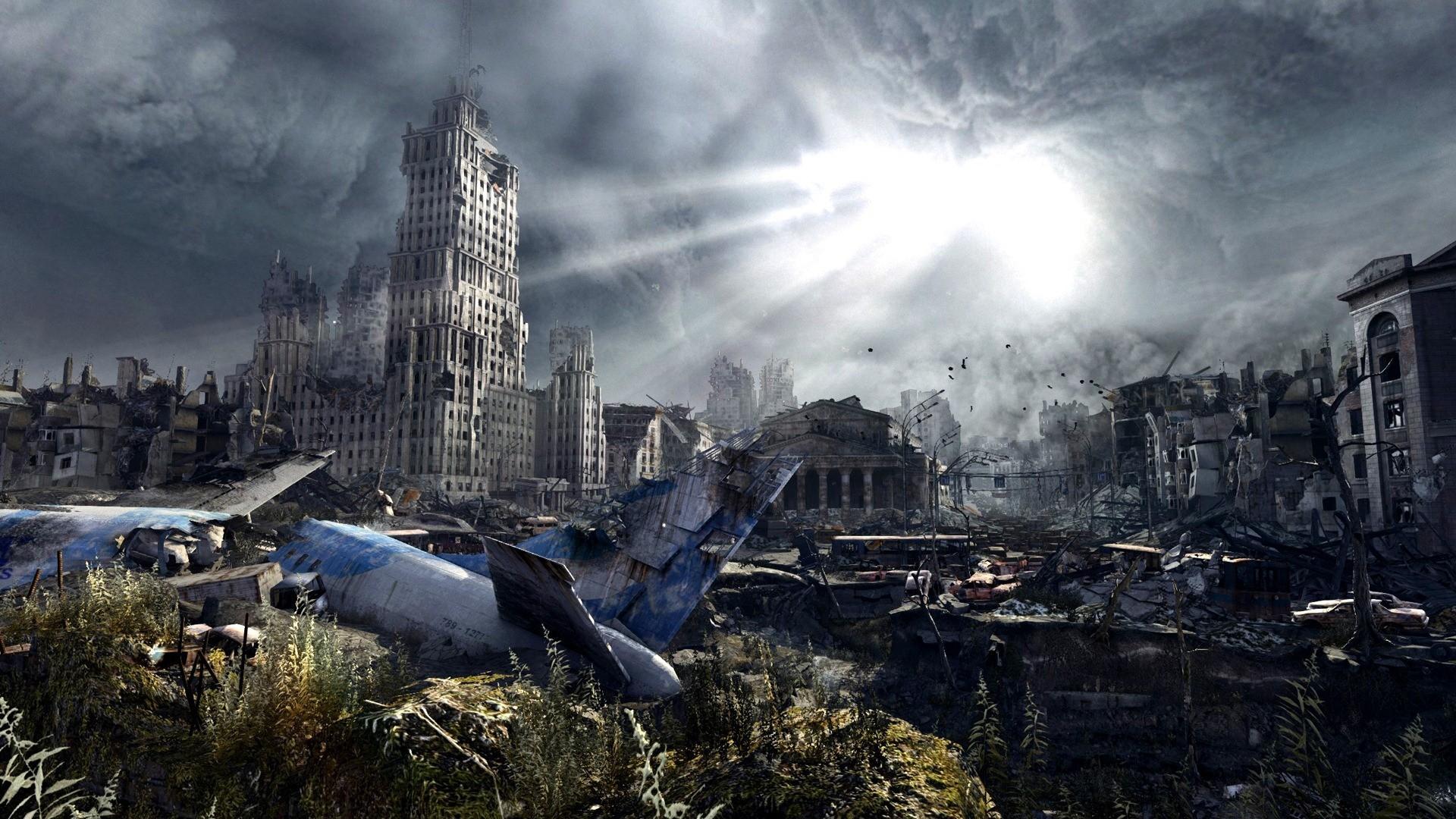 Post apocalyptic cities plane crash state university wallpaper