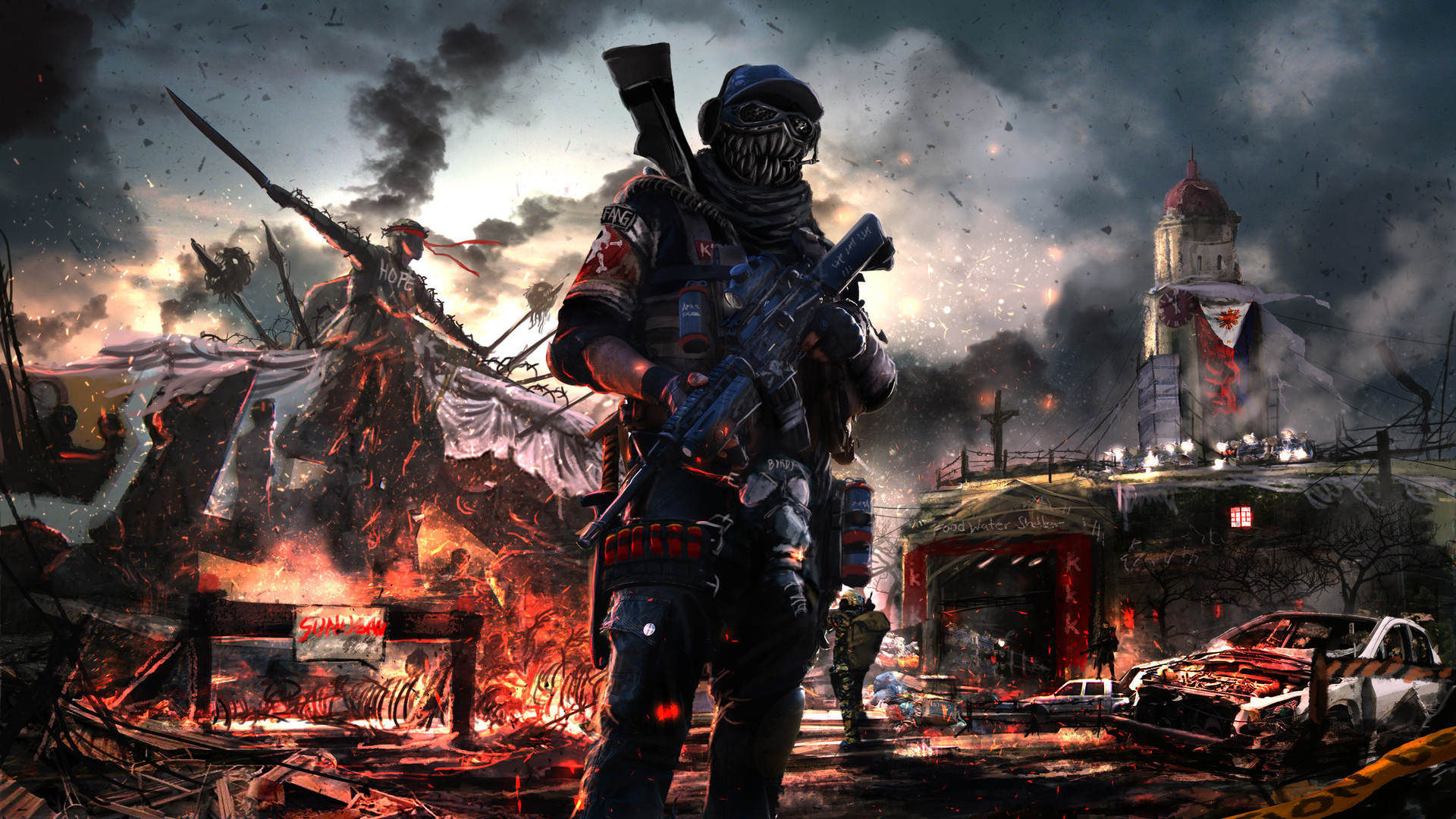 Post Apocalyptic Soldier Artwork