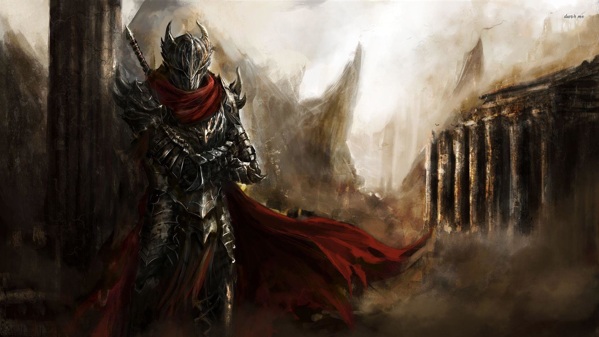Wallpapers For > Medieval Black Knight Wallpaper