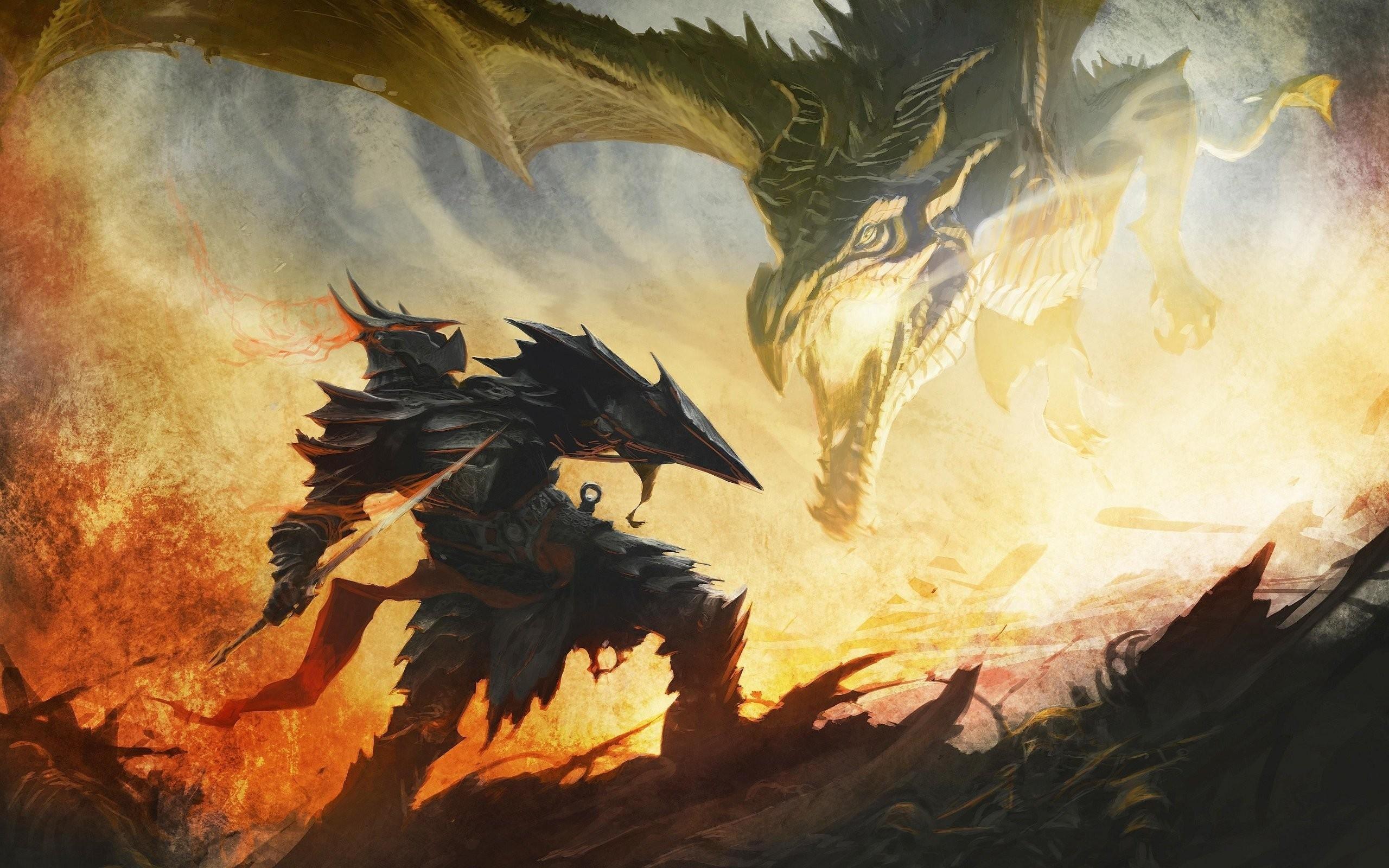 medieval dragons | Skyrim Elder Scrolls Knight Medieval Dragon Drawing  fantasy wallpaper .
