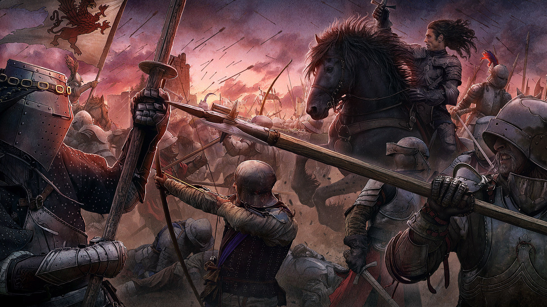 kerem beyit, knights, medieval style, cg wallpapers, the .