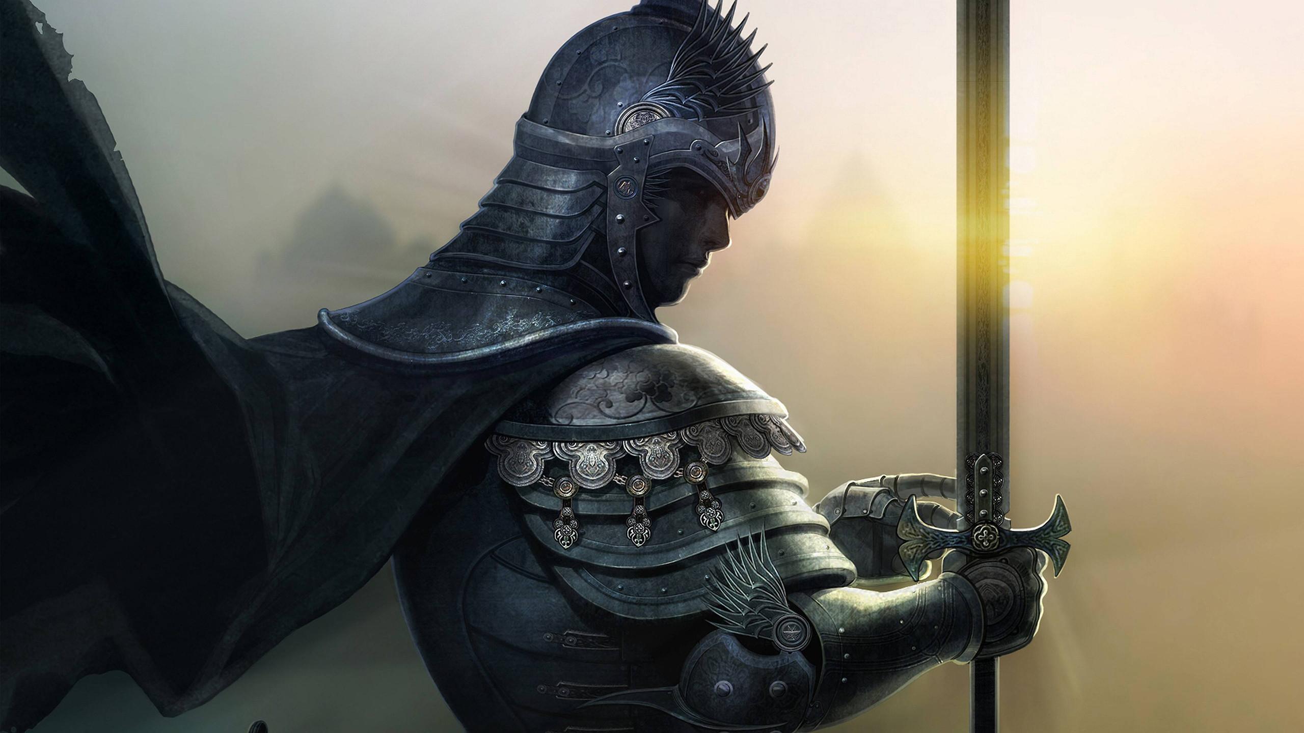 Medieval Armor Knight Sword HD wallpaper thumb