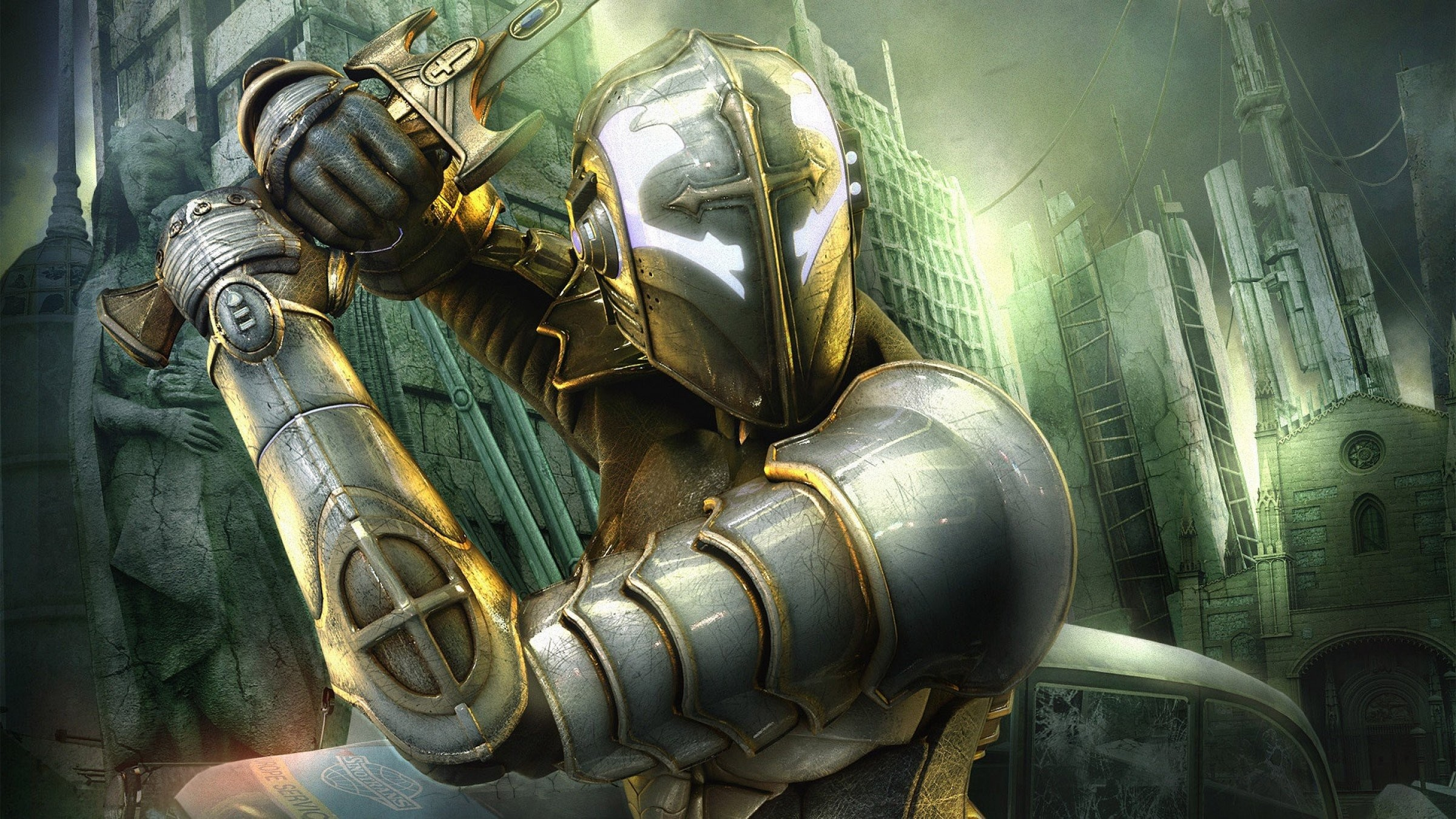 LONDON fantasy action sci-fi warrior knight armor wallpaper background .
