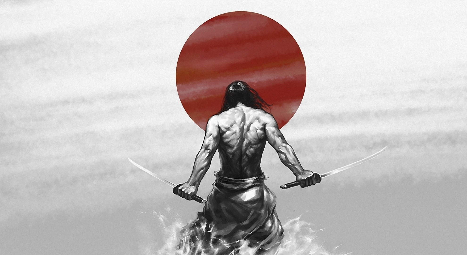 Warriors Katana Sabre Samurai Fantasy wallpaper