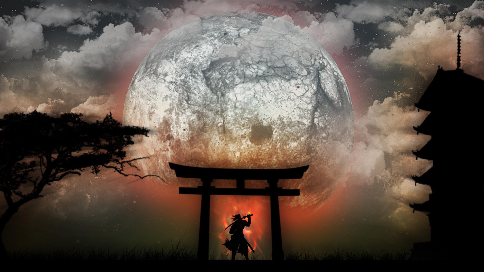 Night samurai HD Wallpaper 1920×1080