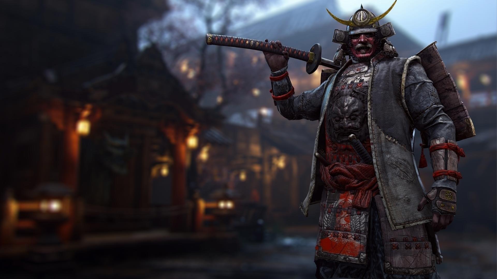 Video Game – For Honor Samurai Warrior Katana Armor Helmet Wallpaper