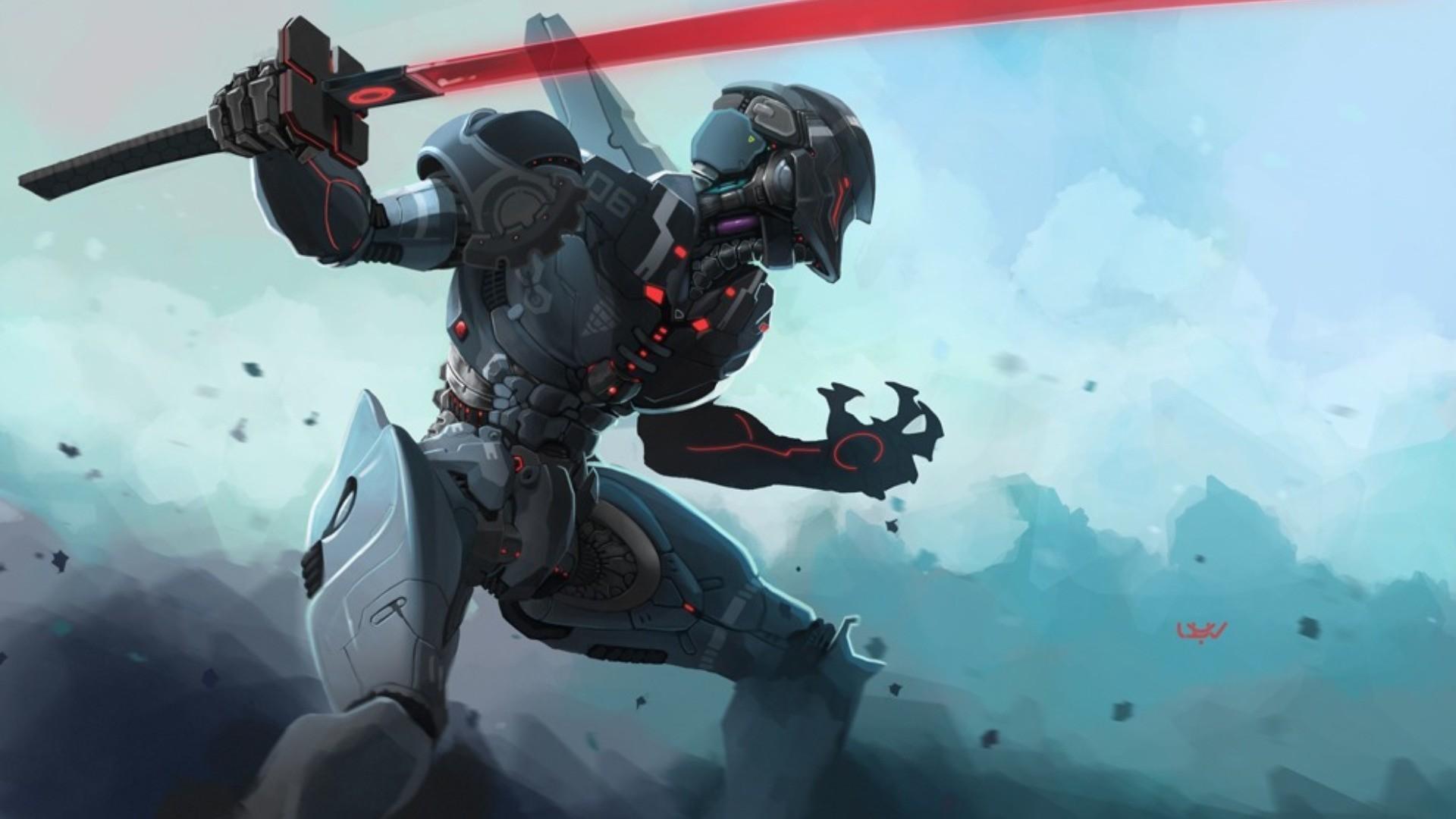 artwork, Cyborg, Futuristic, Samurai Wallpapers HD / Desktop and Mobile  Backgrounds