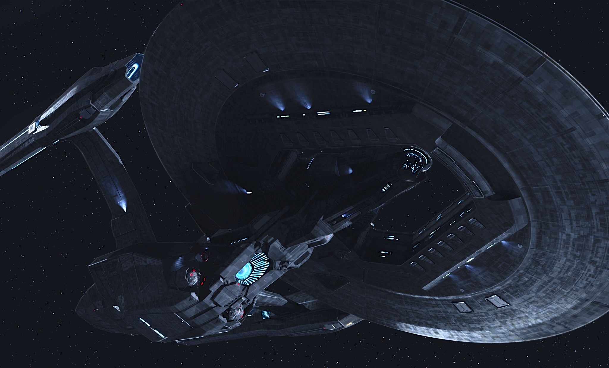 Star Trek Starship Enterprise Spaceship Dark Enterprise .