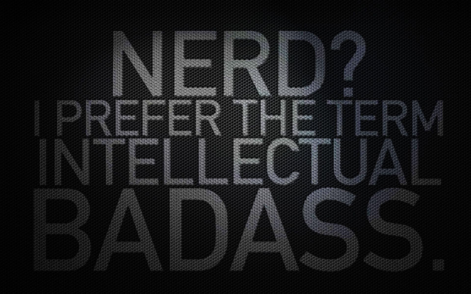 HQ nerd, carbon fibre, badass, black Surfaces wallpaper / .