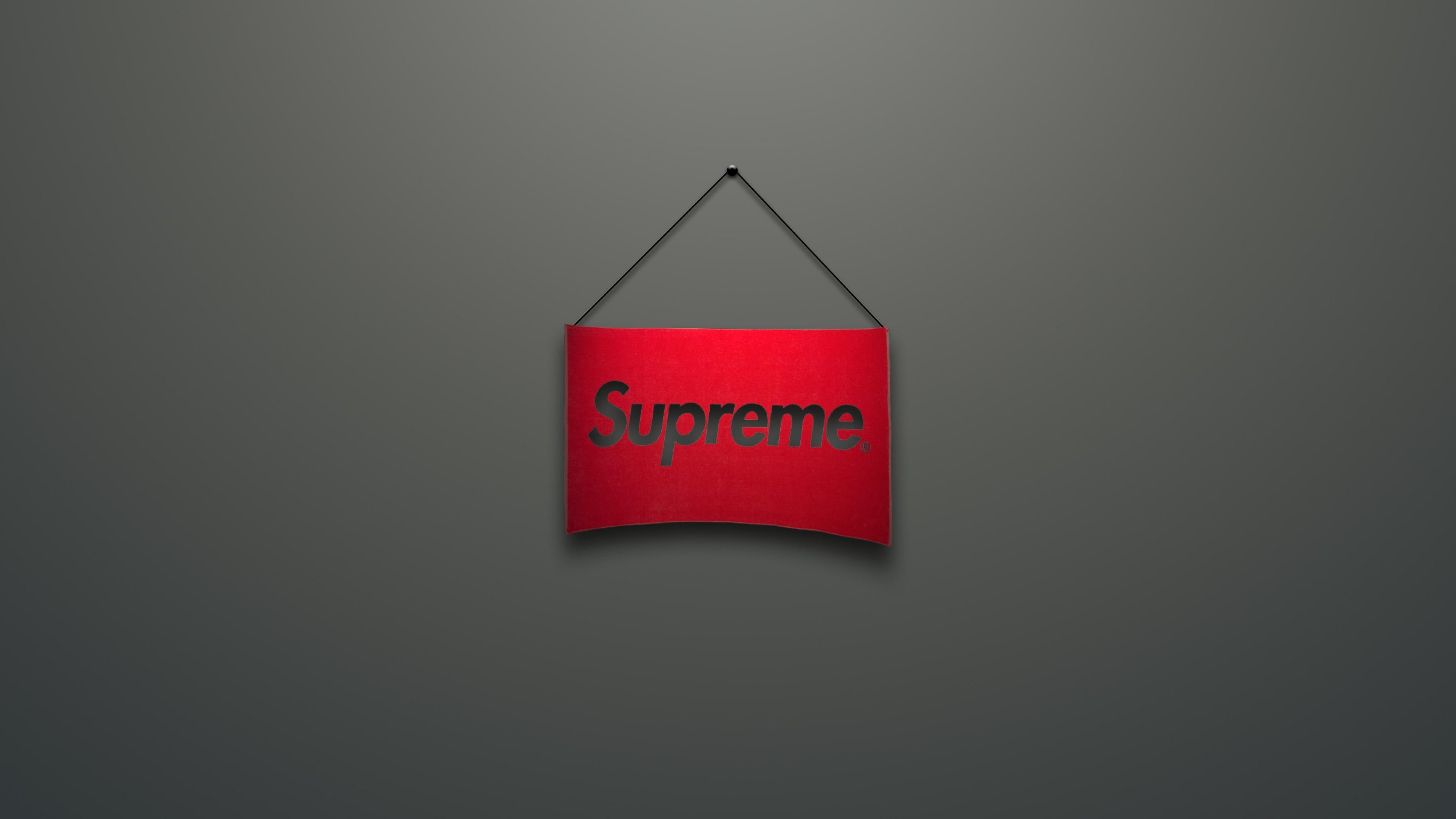 Wallpaper supreme, logo, red, minimalism