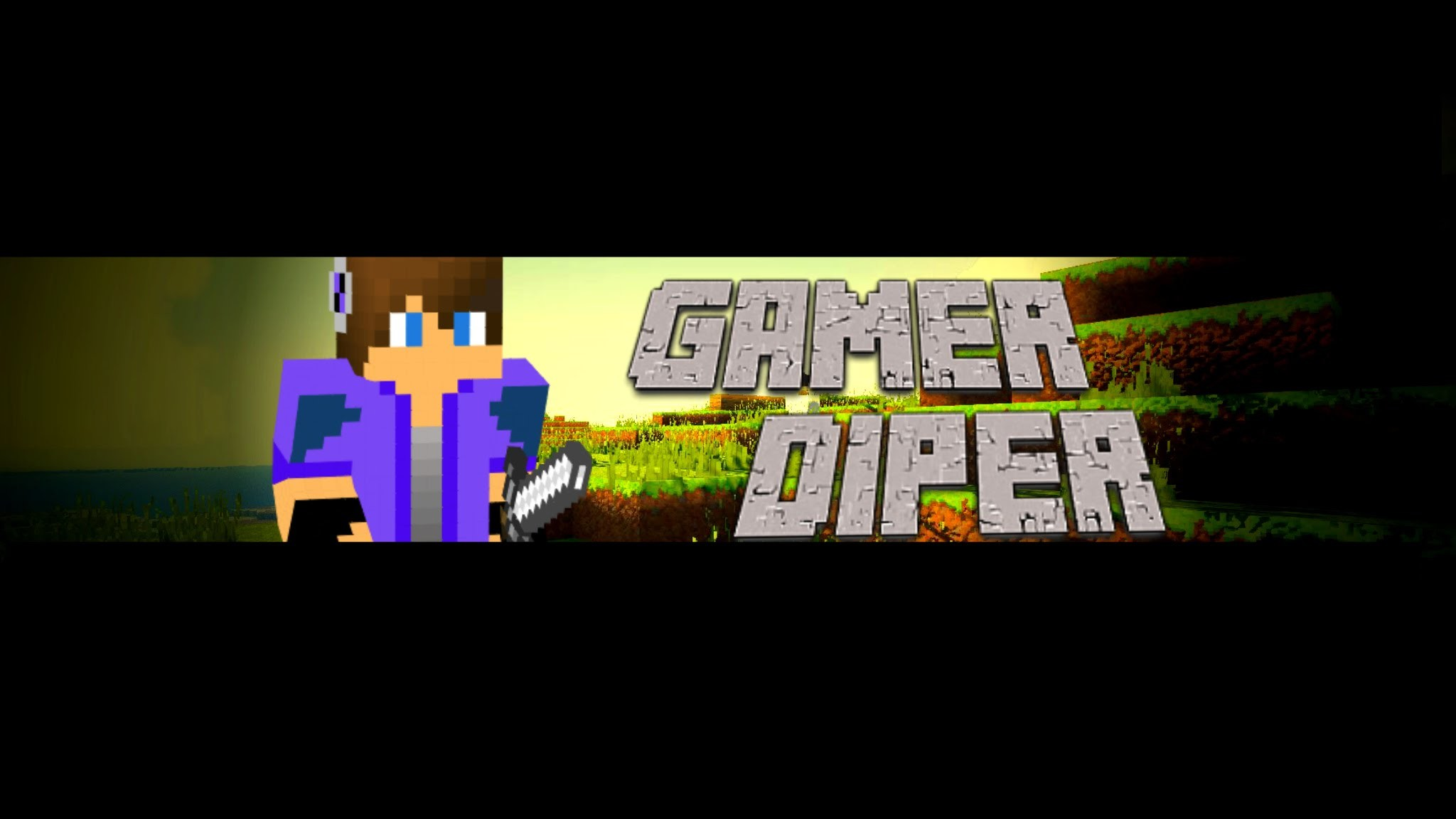 How to mke a minecraft channel art for youtube (NO Photoshop) – YouTube