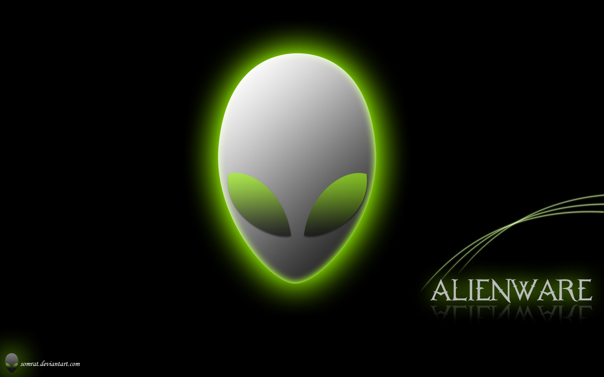 Rainbow Alienware Green by darkangelkrys on DeviantArt