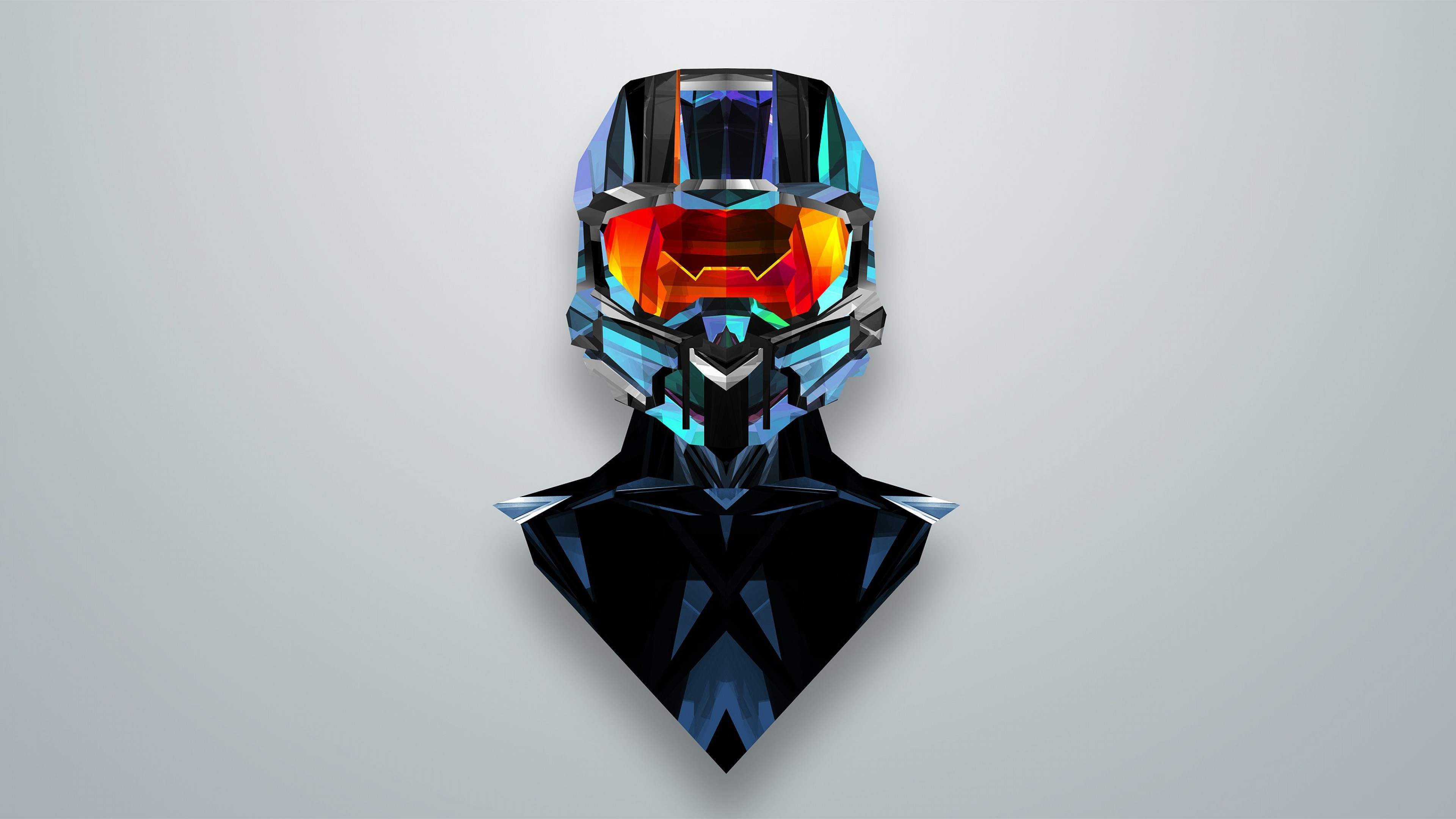 Preview wallpaper justin maller, art, line, helmet 3840×2160