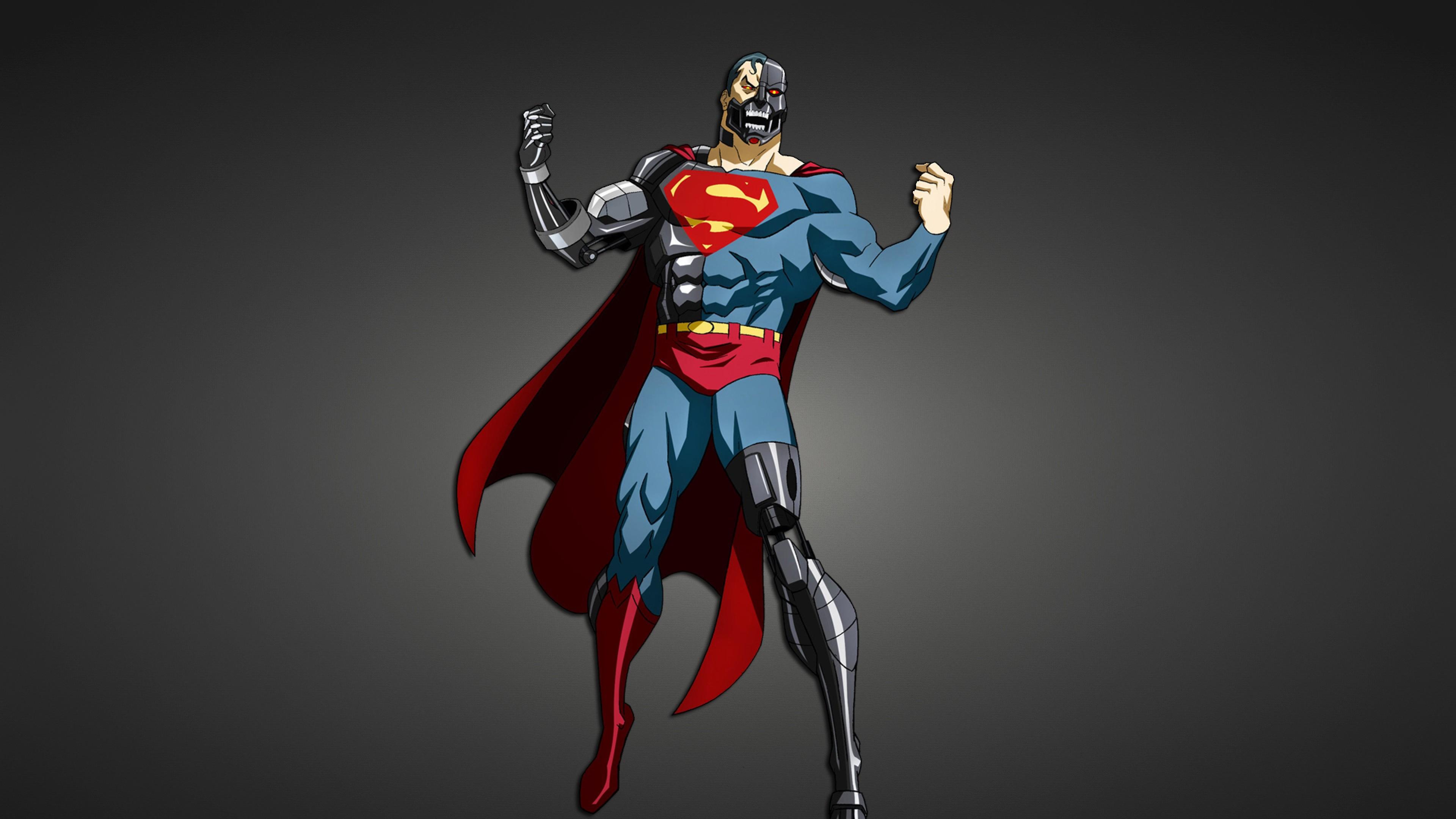 Preview wallpaper superman, superhero, cyborg 3840×2160