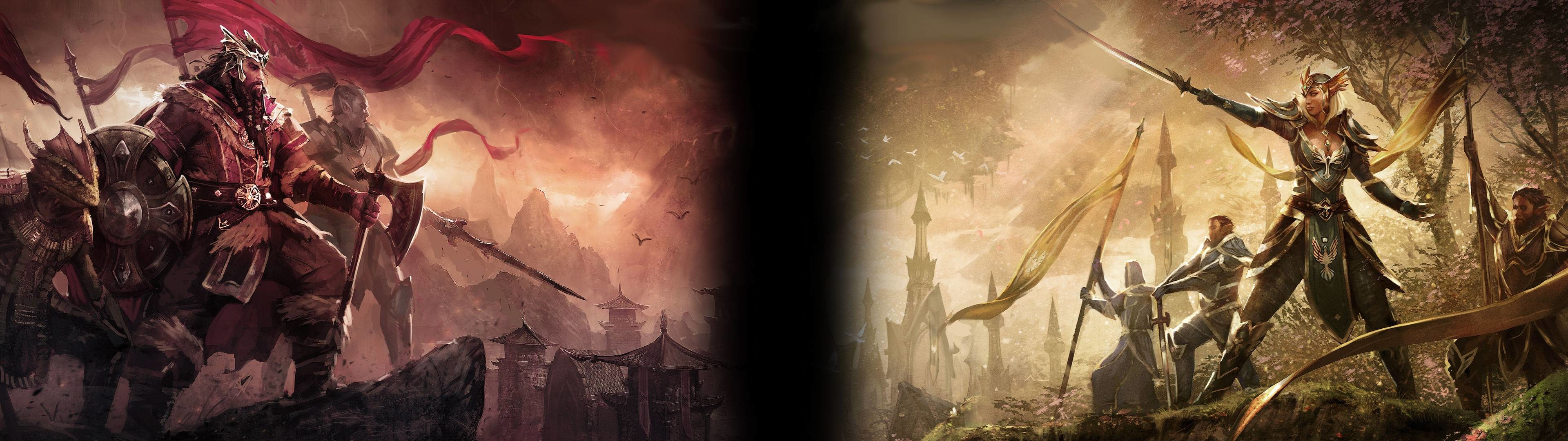 I did a wallpaper for my dual monitor (3840×1080) …