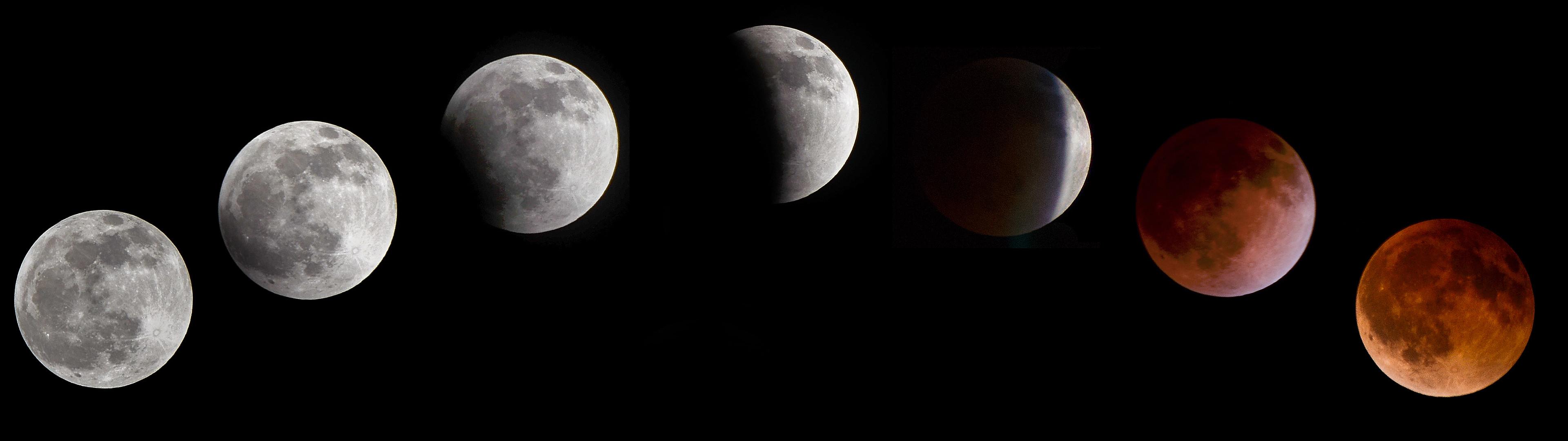 blood moon dual monitor wallpaper (3840×1080)