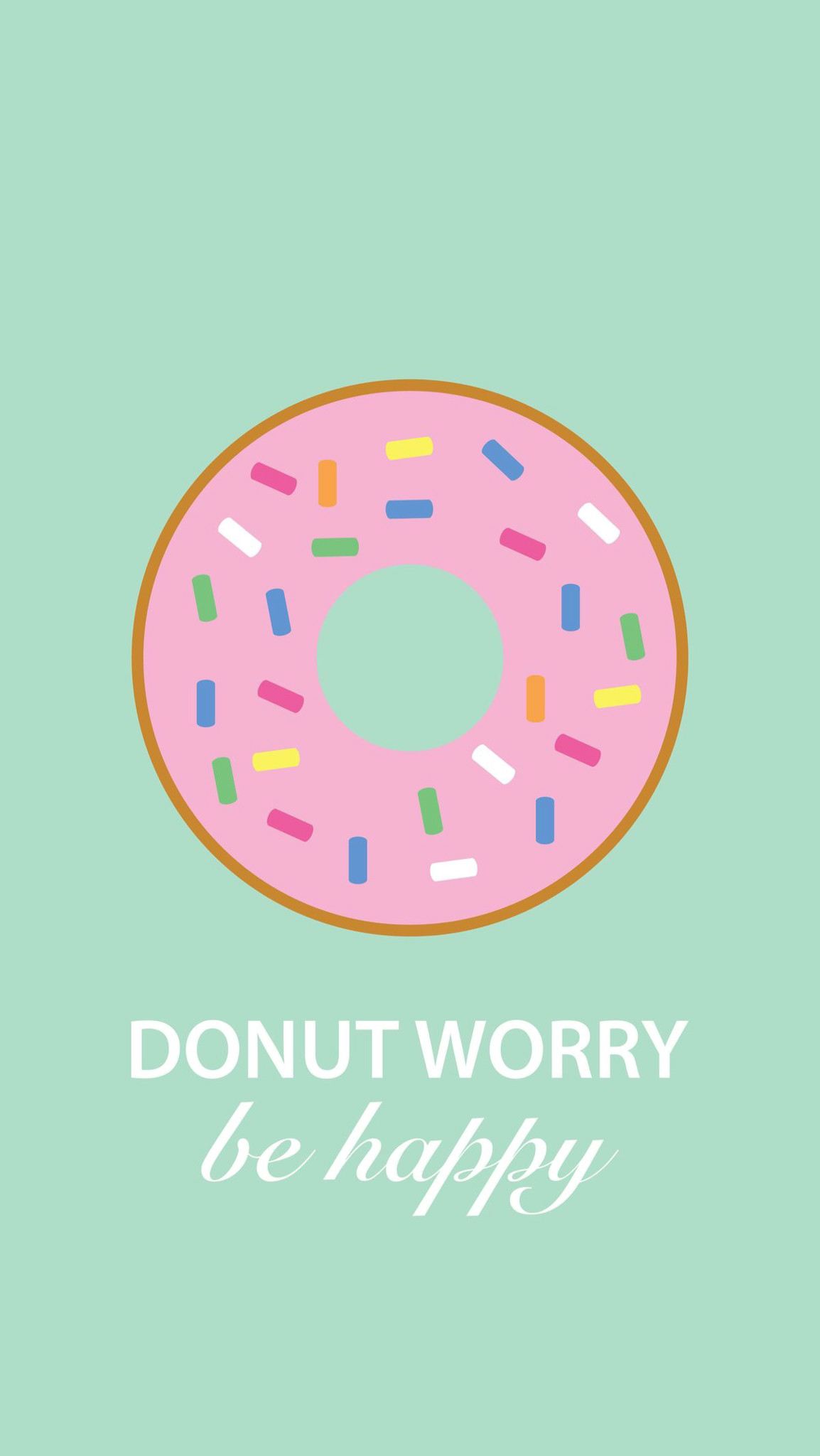 Donut Worry ☆ Find more Cute wallpapers for your +