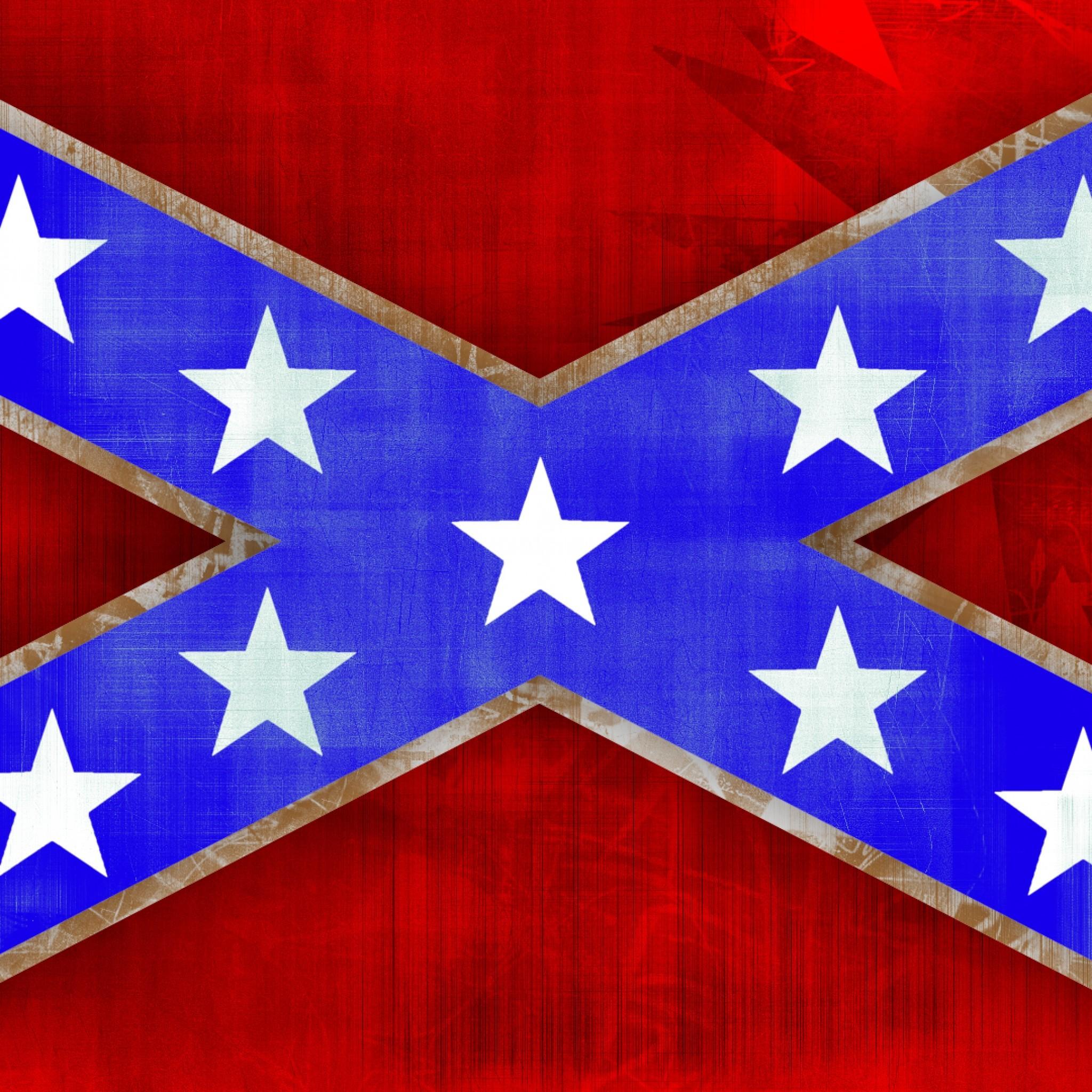 Preview wallpaper confederate flag, south carolina, flag, texture 2048×2048