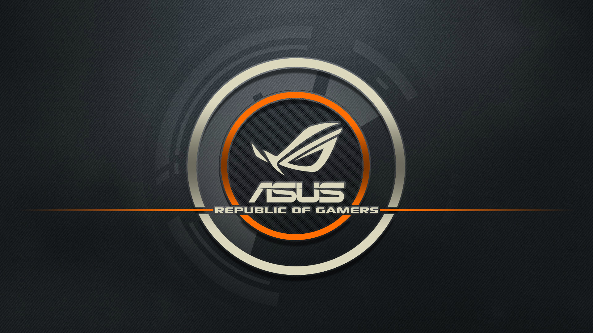 Preview wallpaper asus, logo, republic of gamers, computer 1920×1080