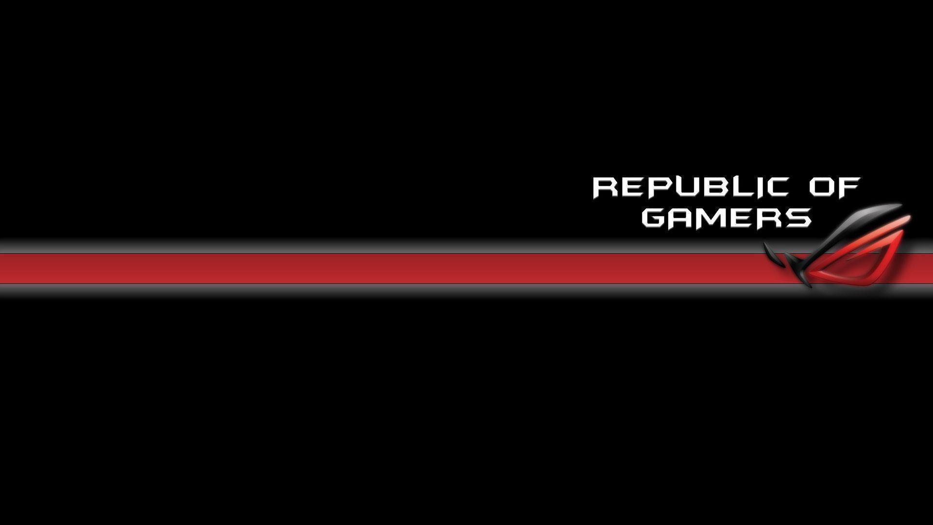 Minimalist Black And Red Asus RoG Wallpaper #1057 | TanukinoSippo.