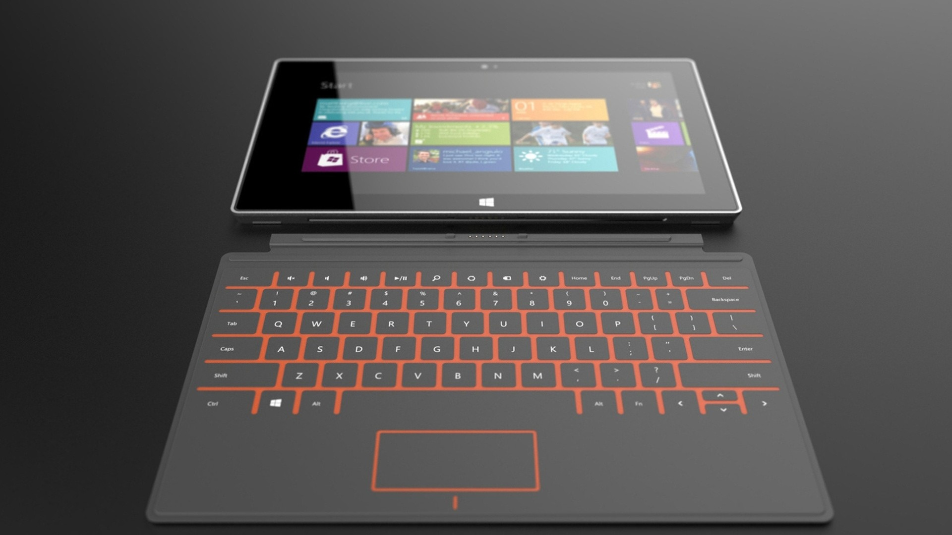 Preview wallpaper windows, tablet, microsoft, touch screen 1920×1080