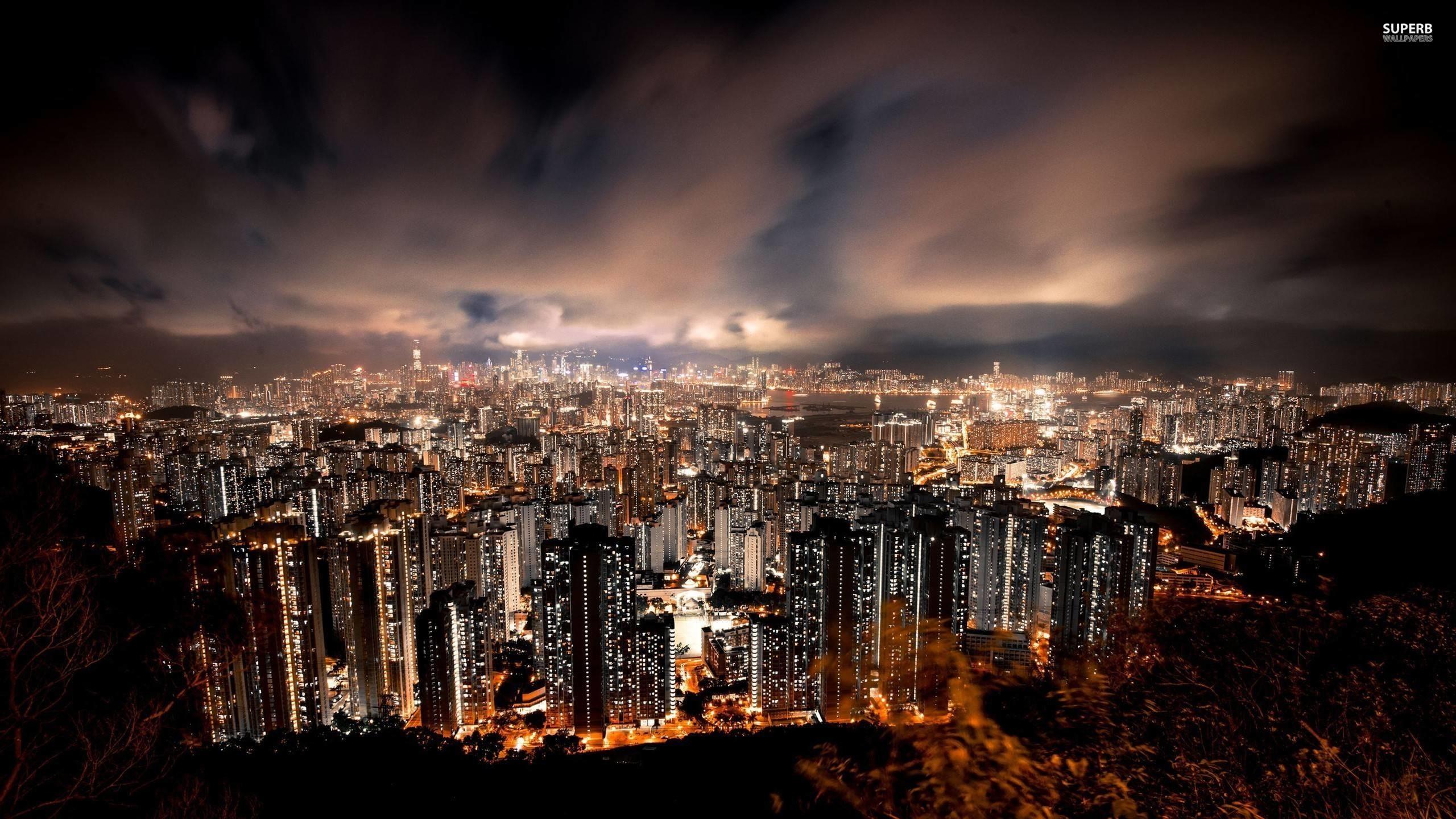 Hong Kong at night wallpaper – World wallpapers – #