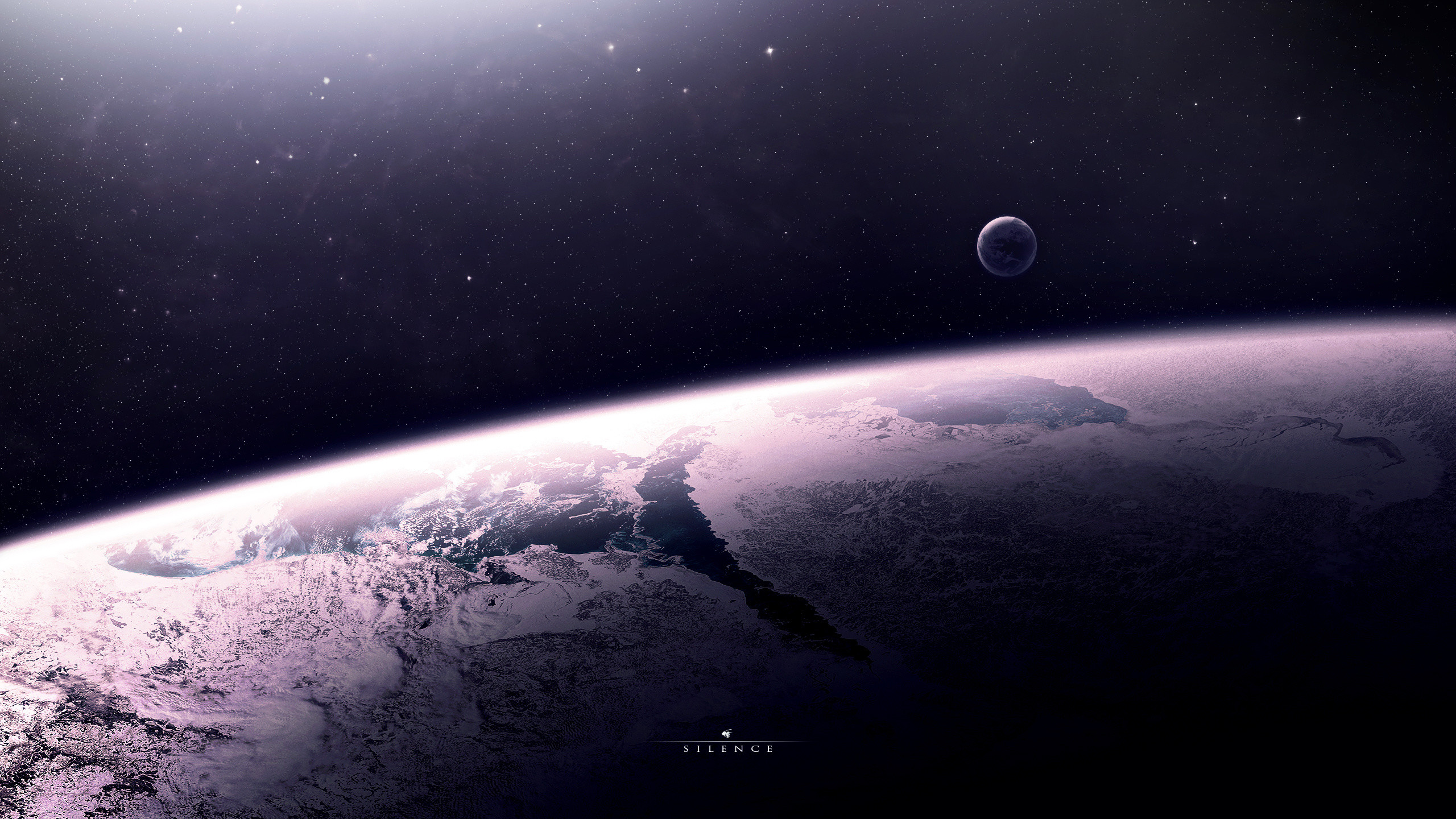Preview wallpaper star, relief, planet, space 2560×1440