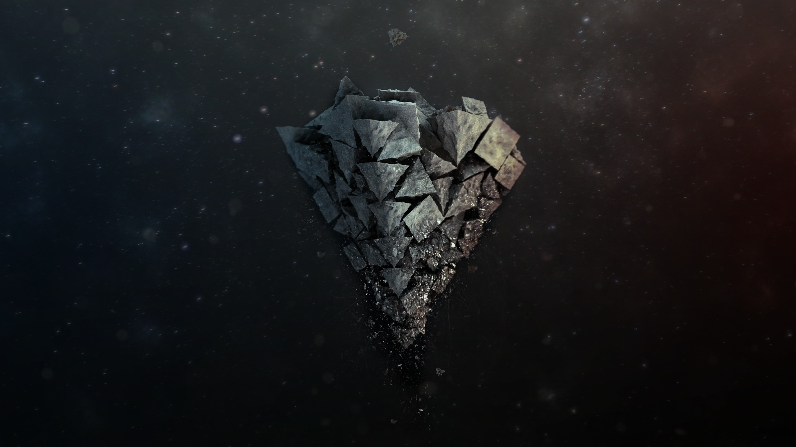Preview wallpaper shards, stone, background, light 2560×1440