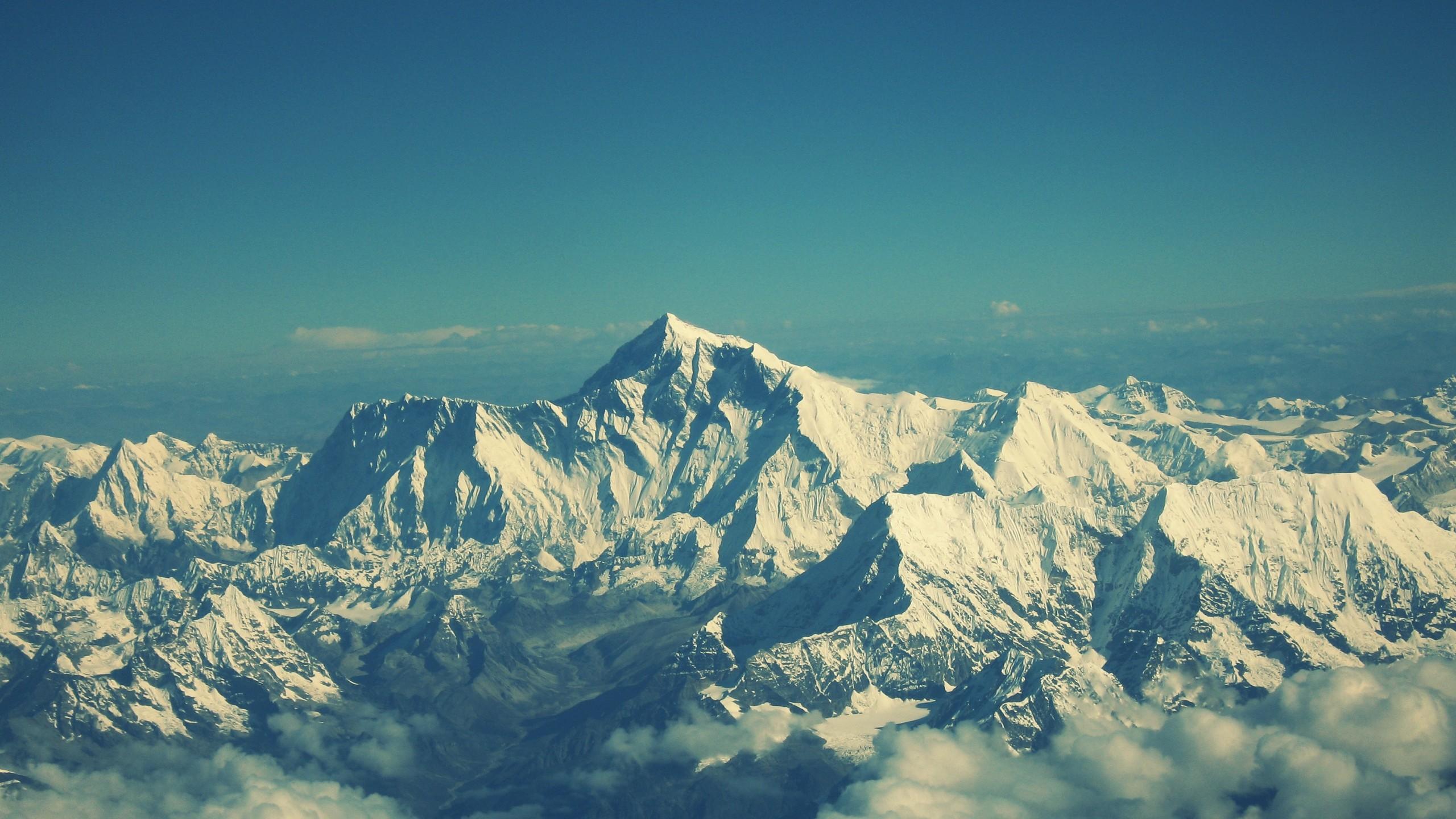 Wallpaper everest, mountain, sky, tops
