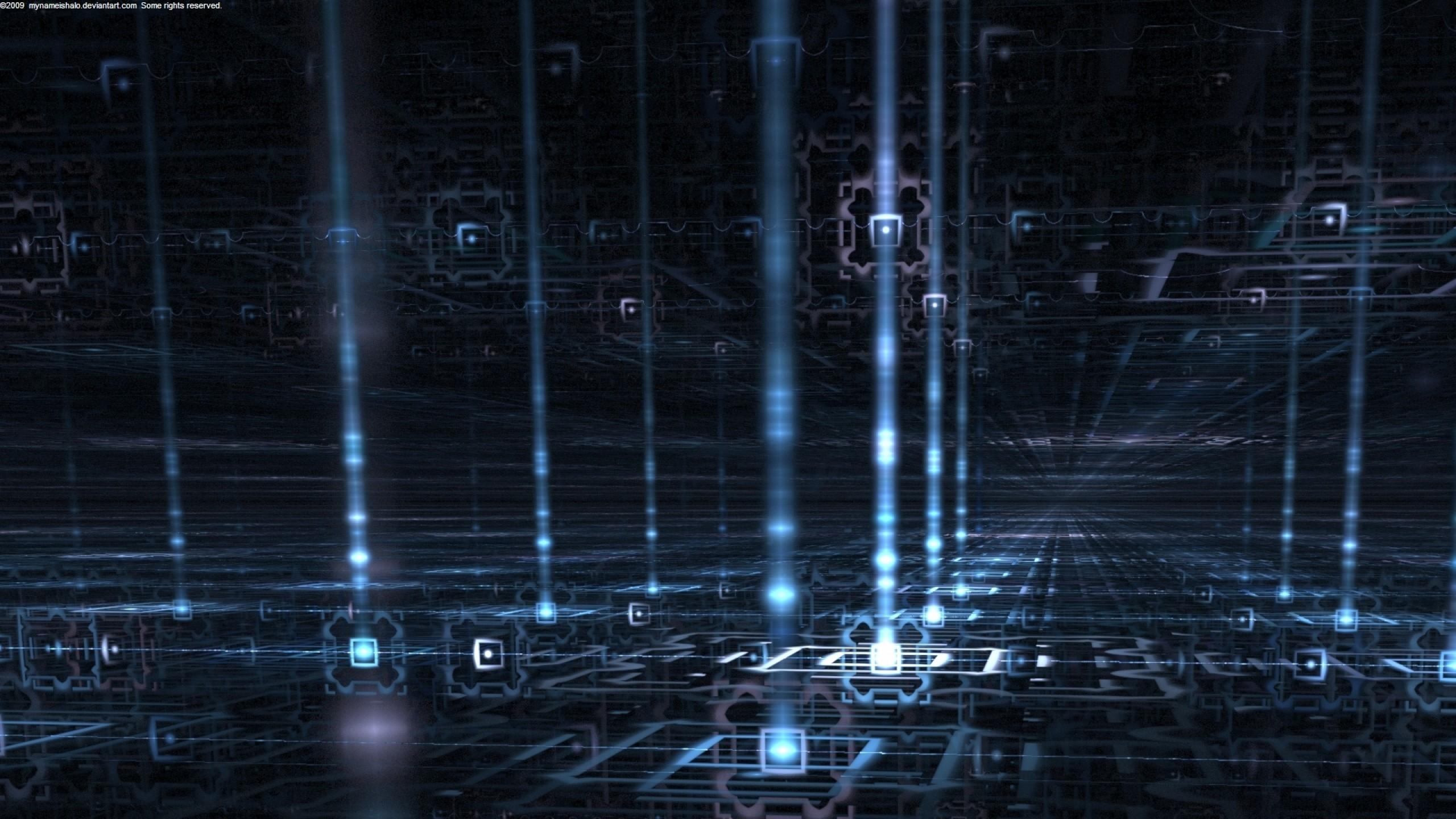 abstract quantum computer Wallpaper HD