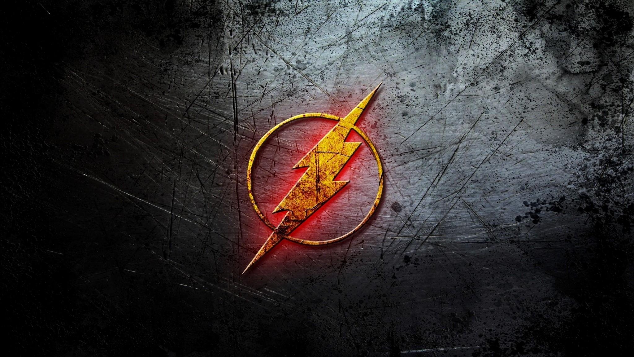 Preview wallpaper flash, logo, dc comic 2048×1152