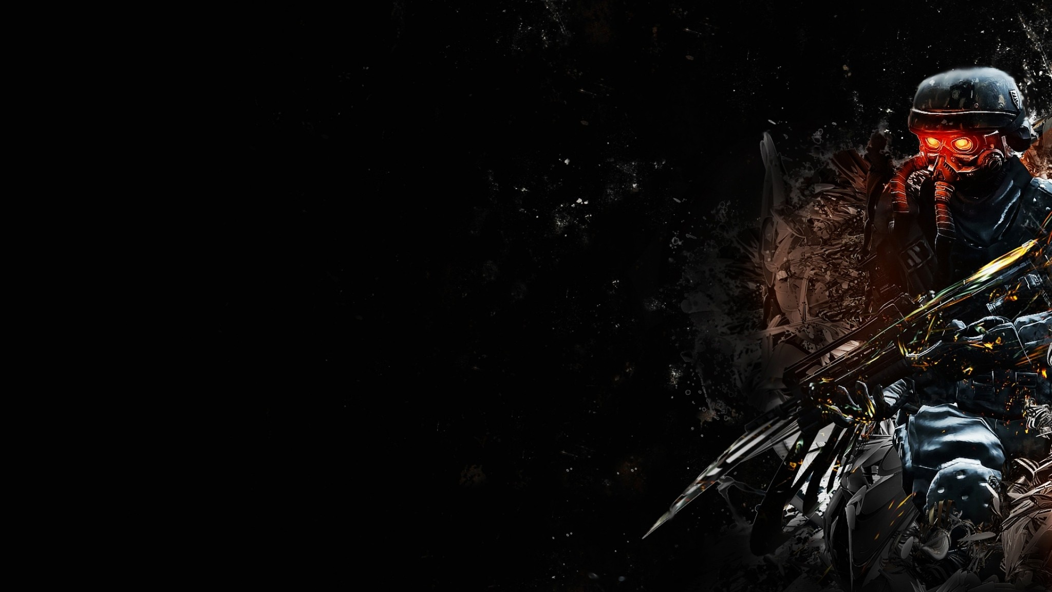 Wallpaper killzone, soldier, gun, look, graphics, background