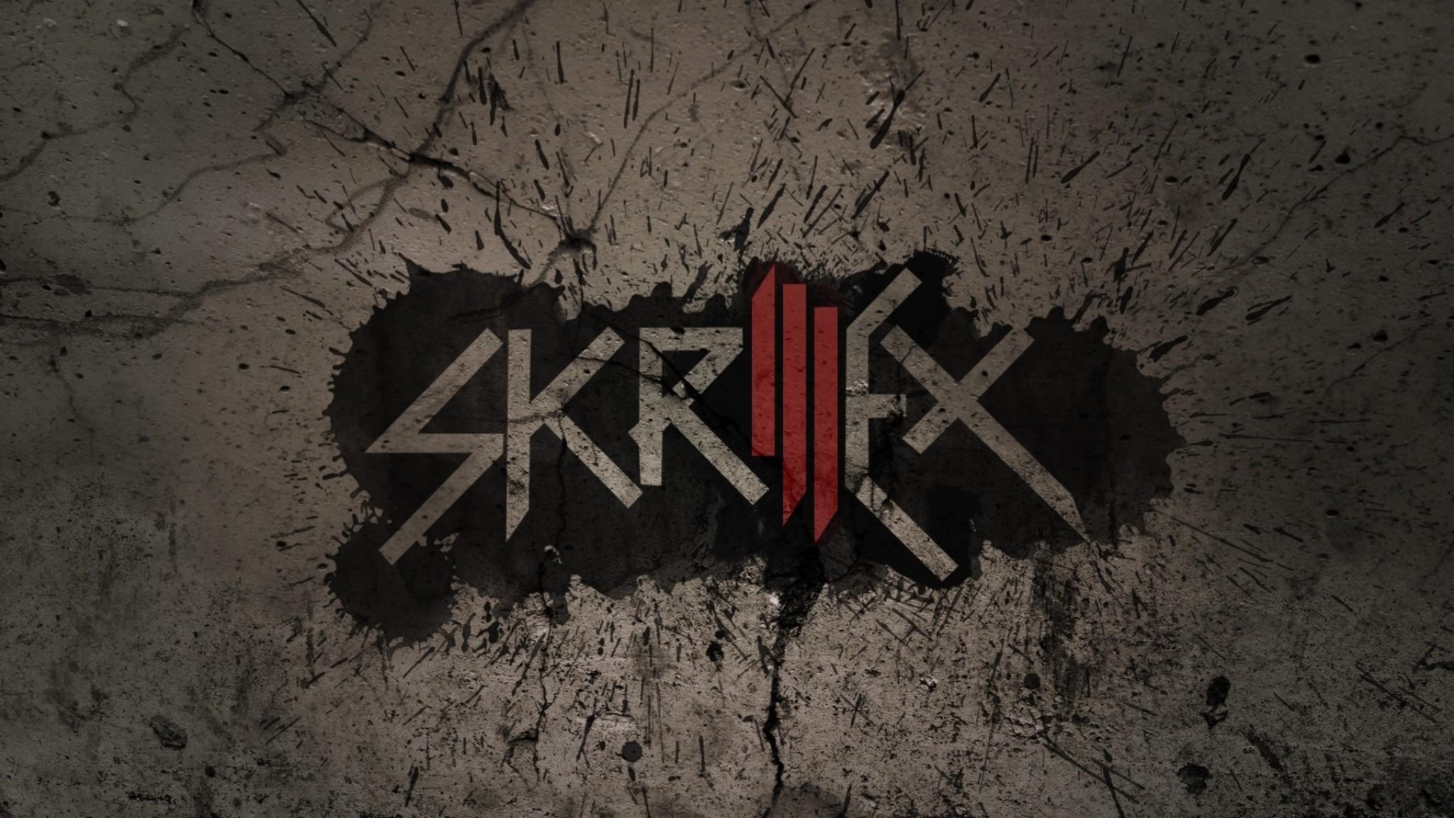 Wallpaper skrillex, name, font, graphics, background
