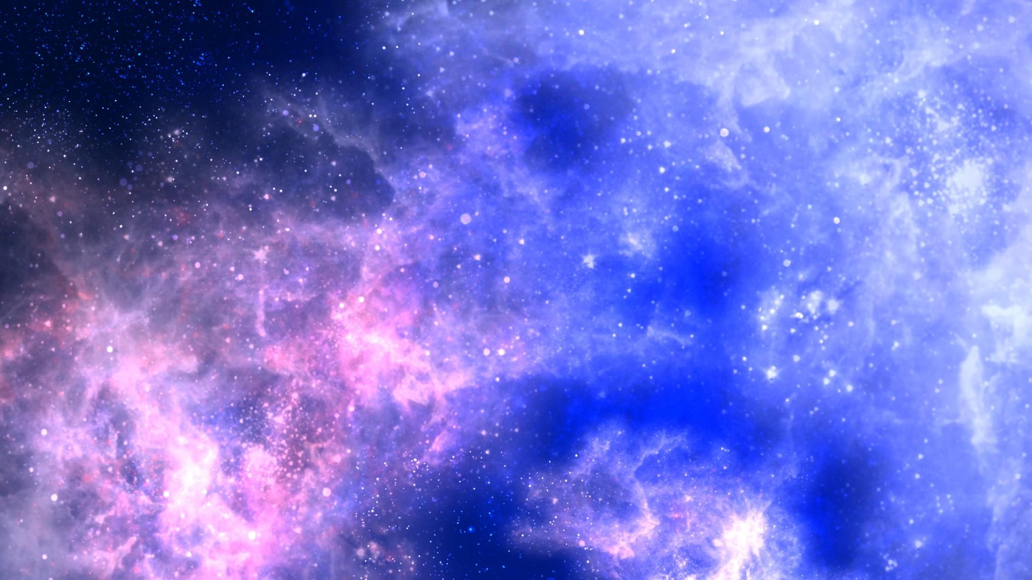 Preview wallpaper star, galaxy, glow, light 2048×1152