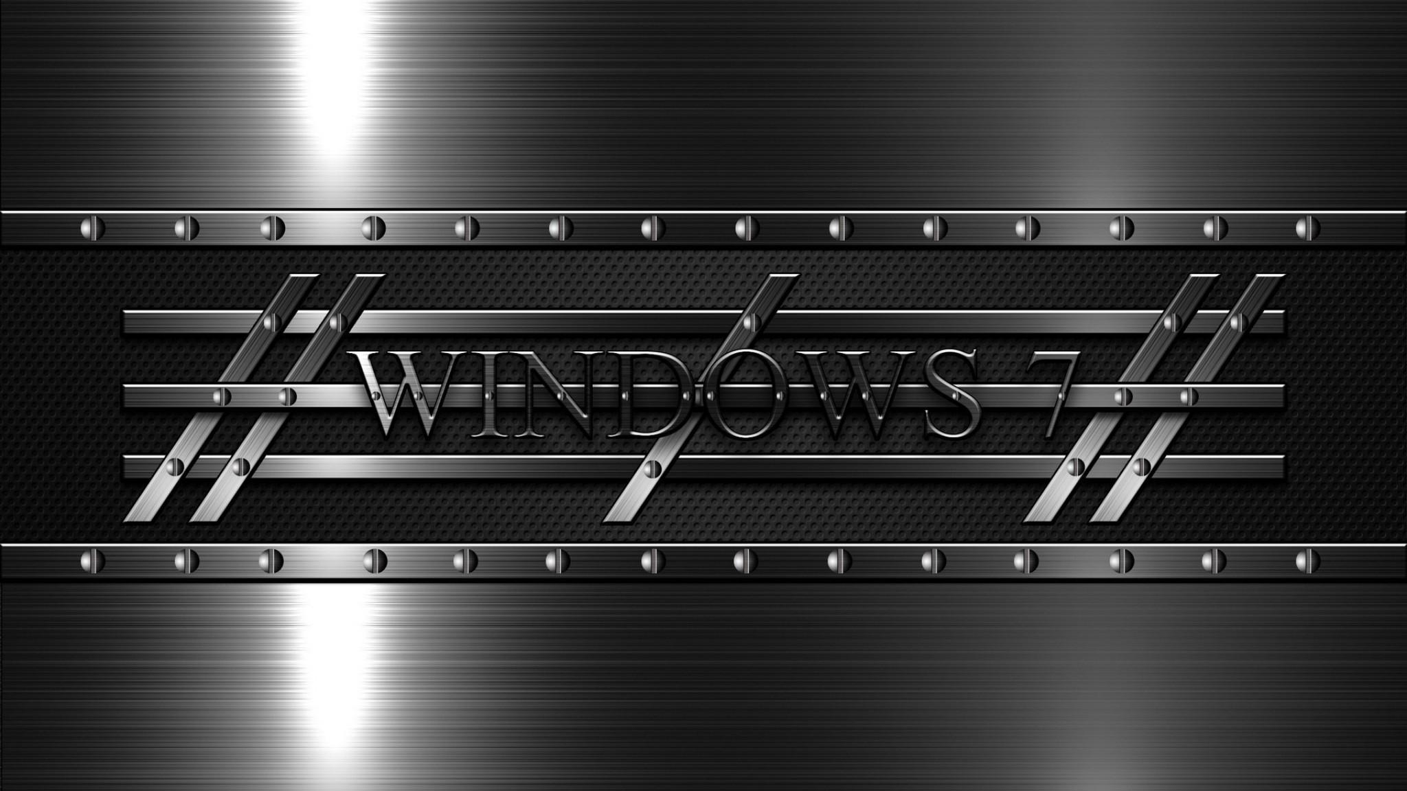 Wallpaper windows 7, 3d, background, black