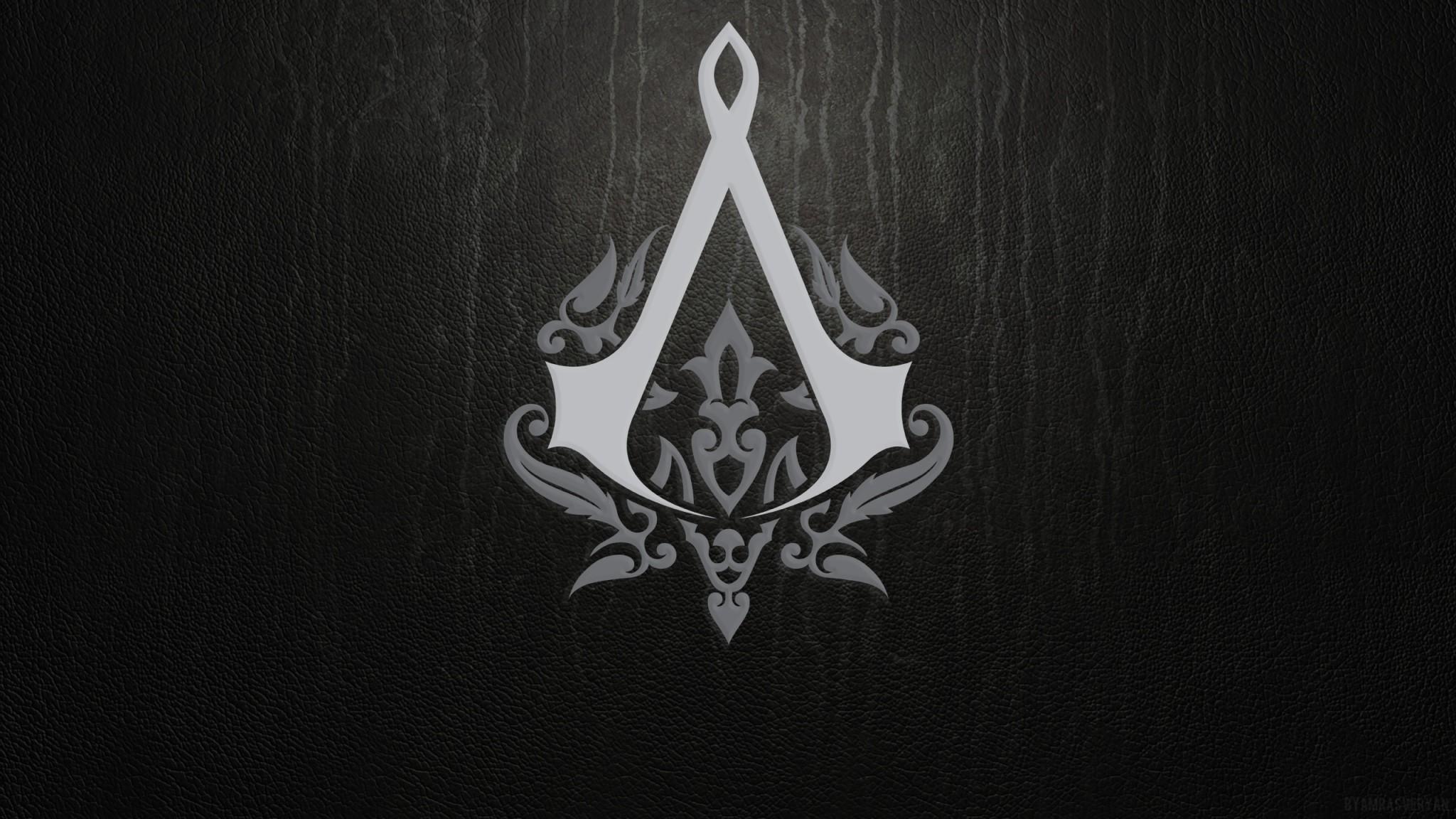 Wallpaper assassins creed, emblem, background, sign