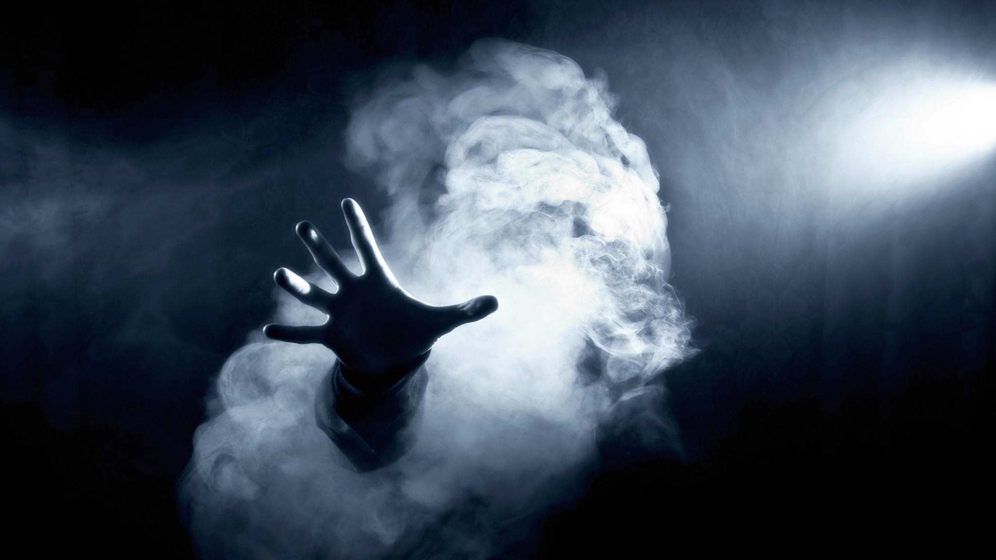 Download Wallpaper Dark, Hand, Smoke HD HD .