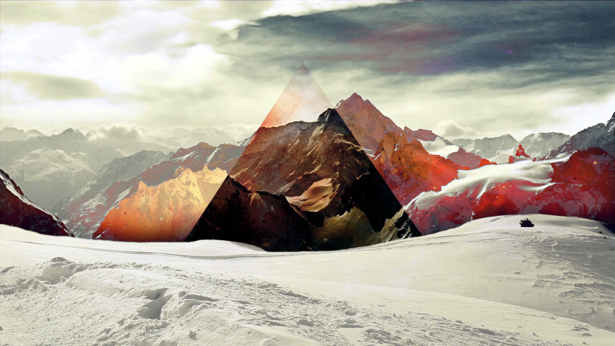 Triangle Snow Abstract mountains sky wallpaper     50472    WallpaperUP