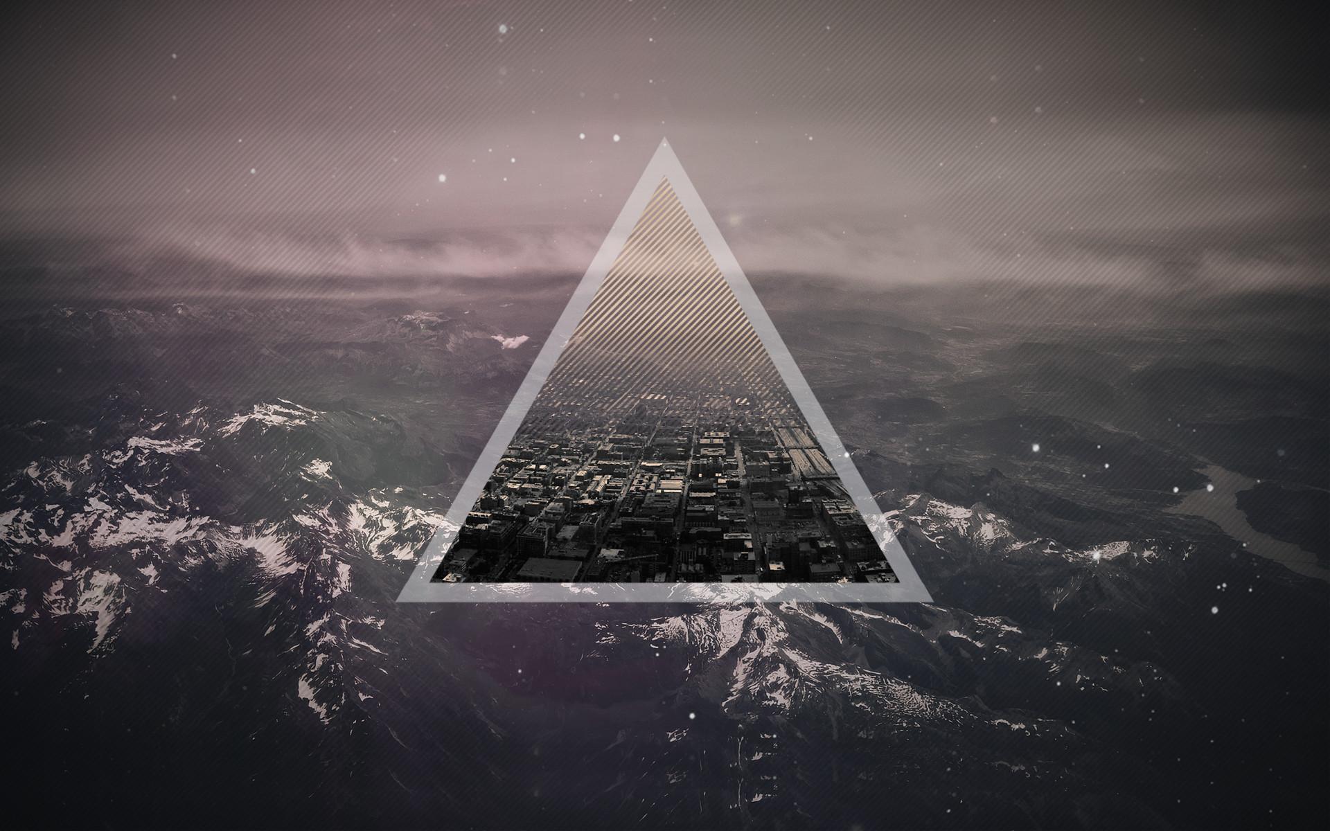 City in a triangle HD Desktop Wallpaper