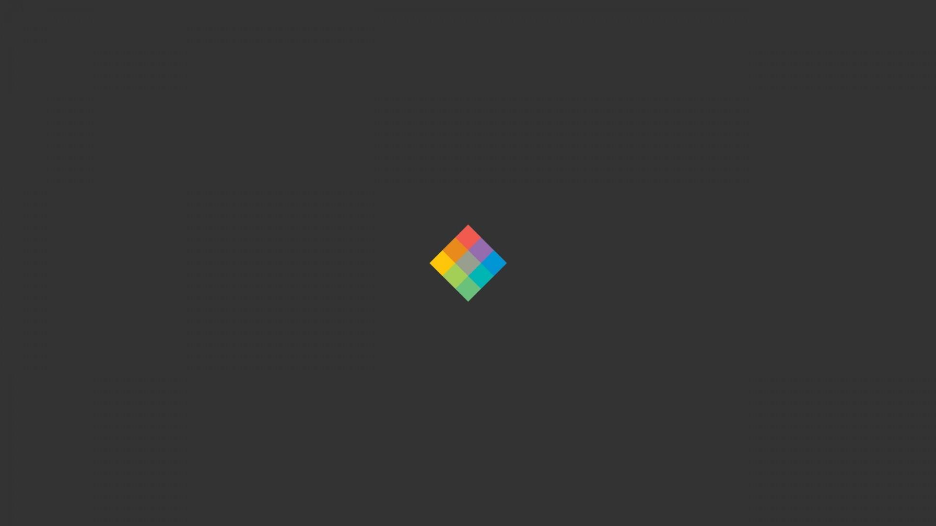 Wallpaper minimalist cube, bright, background Full HD 1080p .