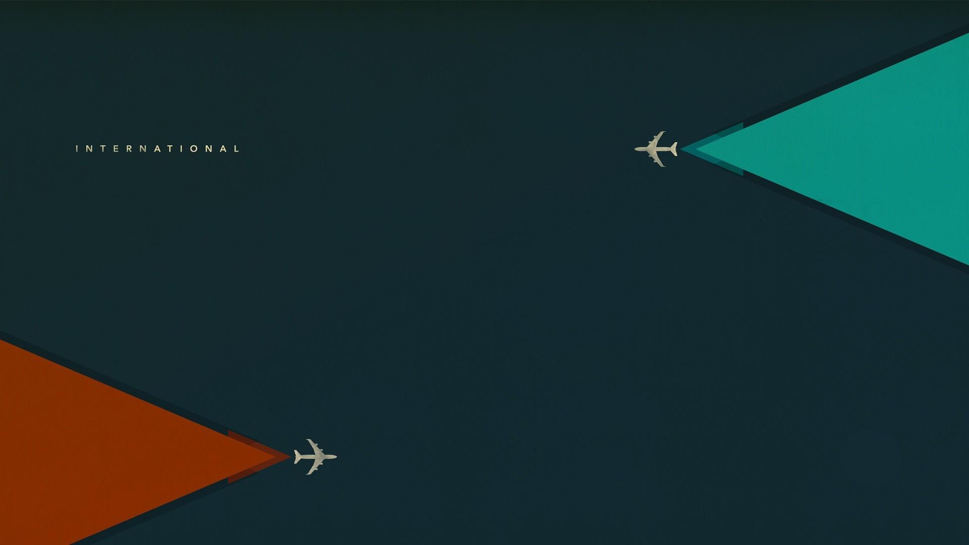 Wallpaper minimalism, aircraft, flight