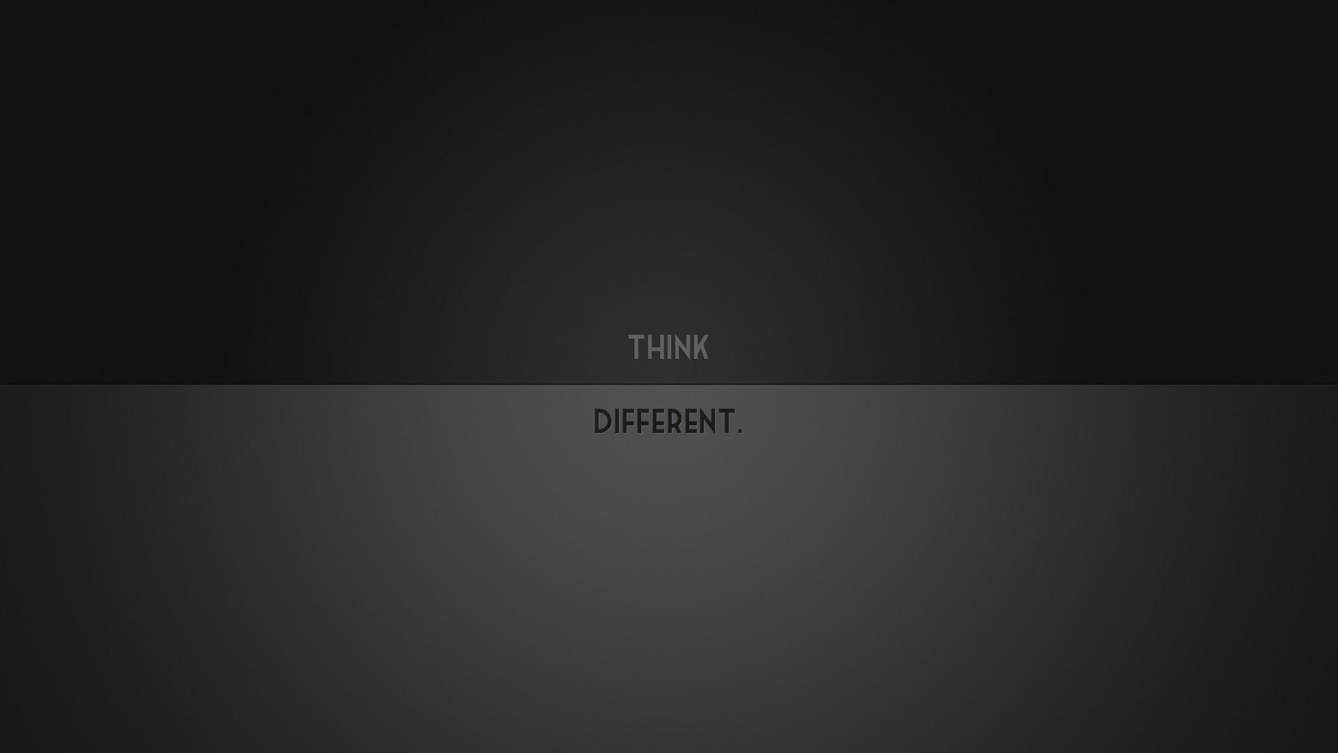 Minimalistic Think Different desktop PC and Mac wallpaper
