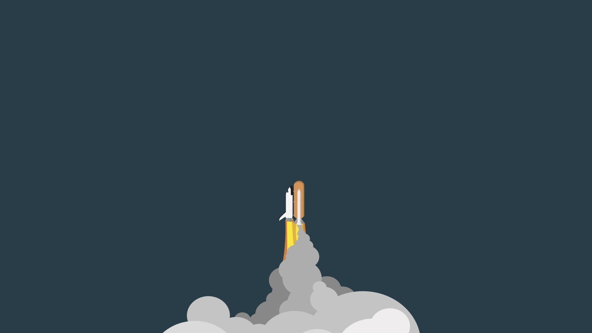 space, Rockets, Minimalism Wallpapers HD / Desktop and Mobile Backgrounds