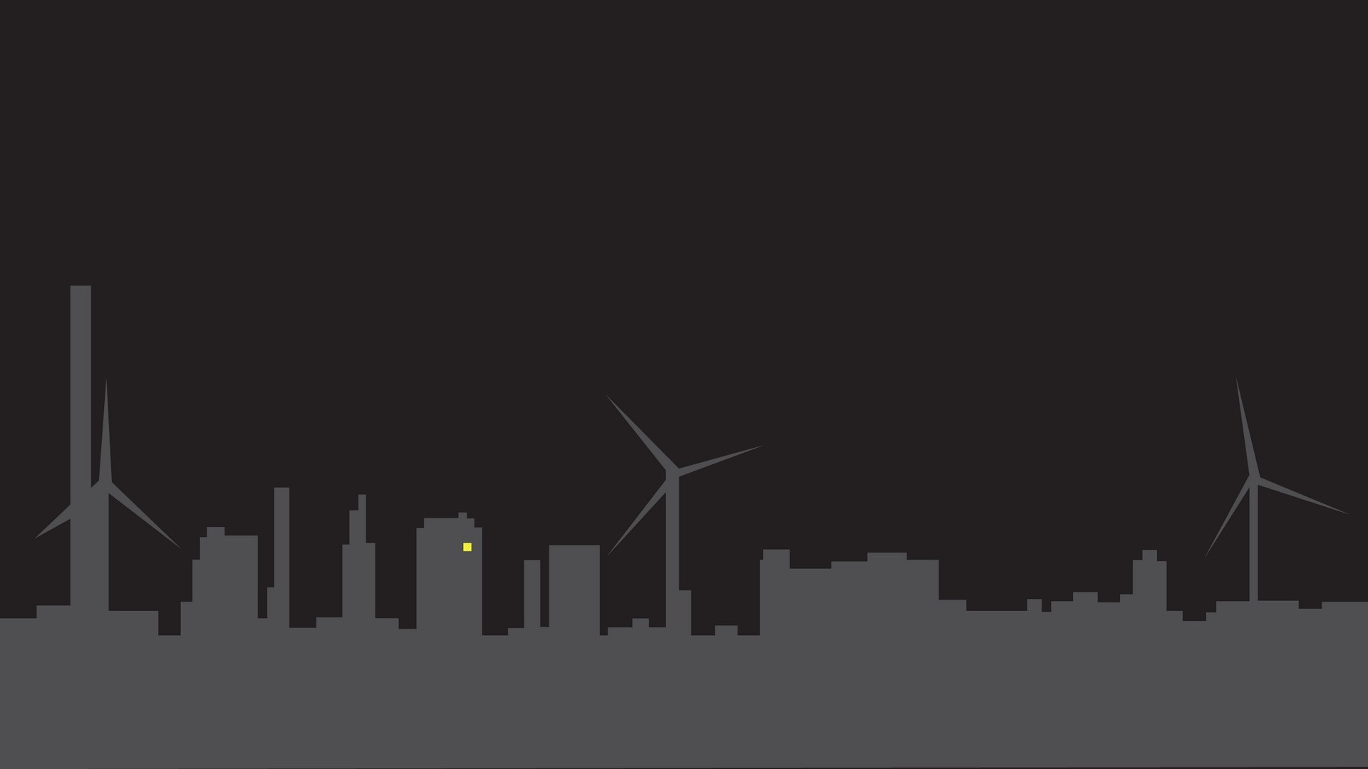 Wallpaper city, silhouette, minimalism