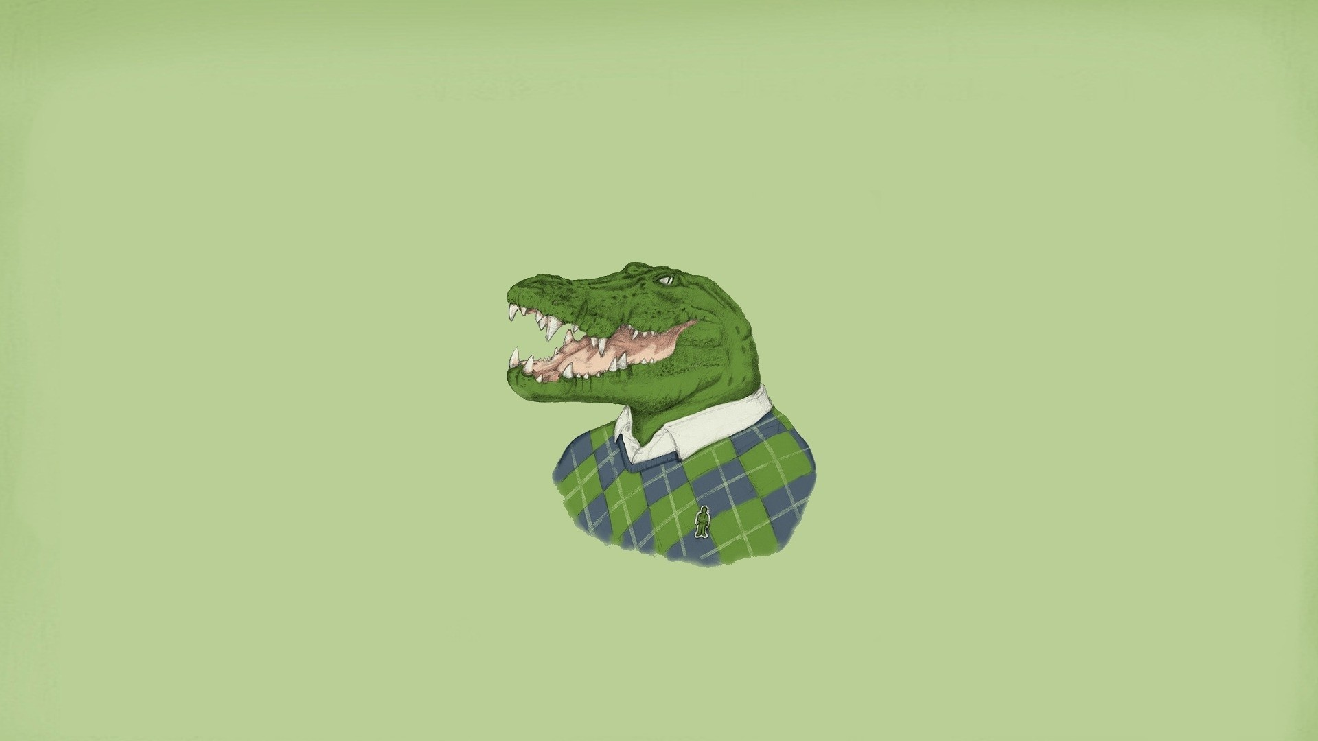 Preview wallpaper minimalism, lacoste, crocodile 1920×1080