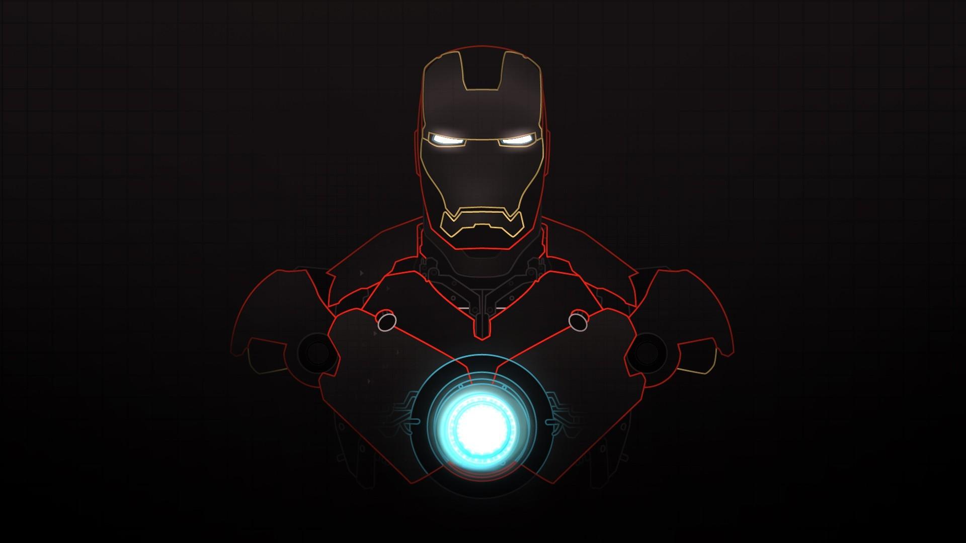 Iron Man Minimalist wallpaper